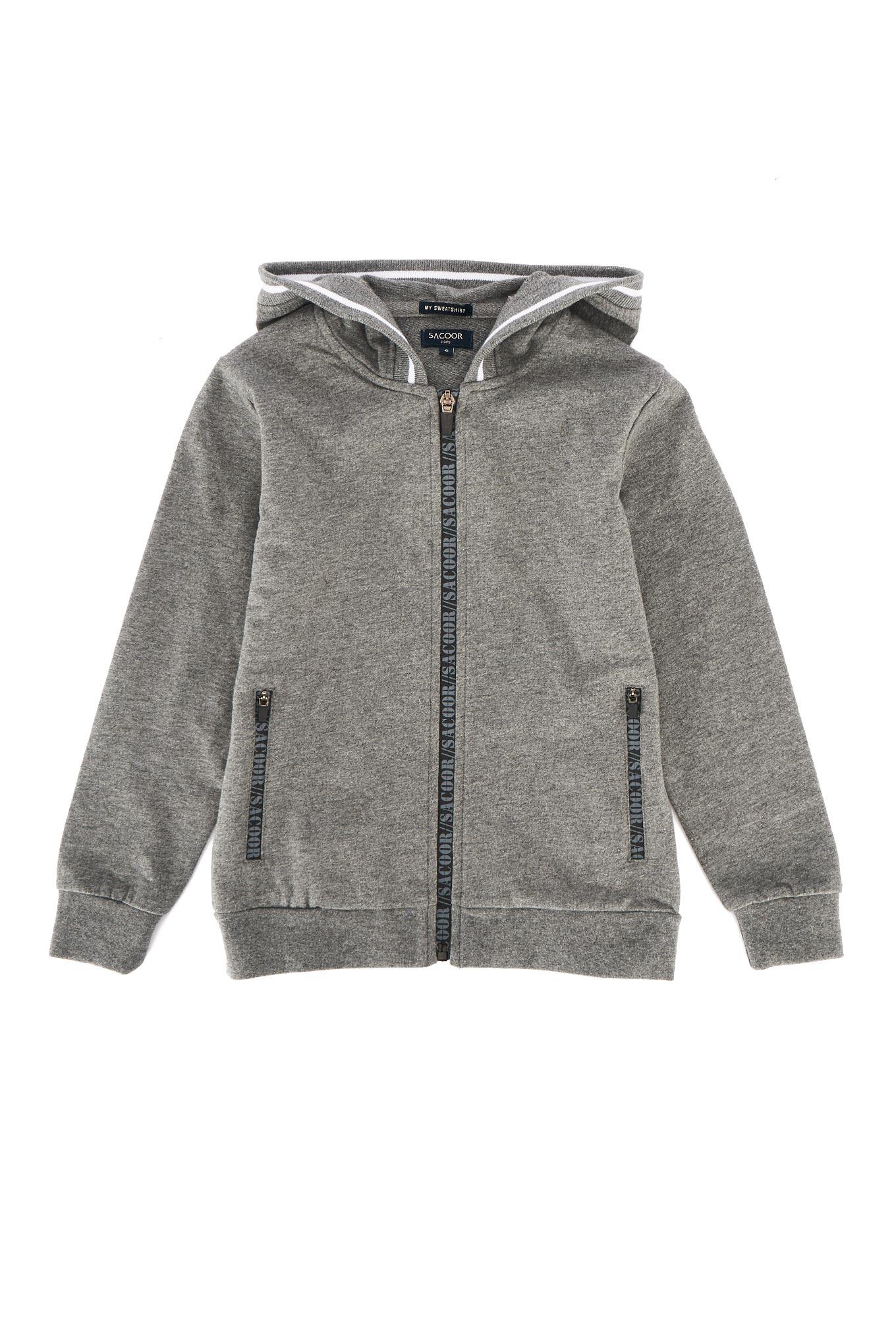 Sweatshirt Cinzento Escuro Sport Rapaz