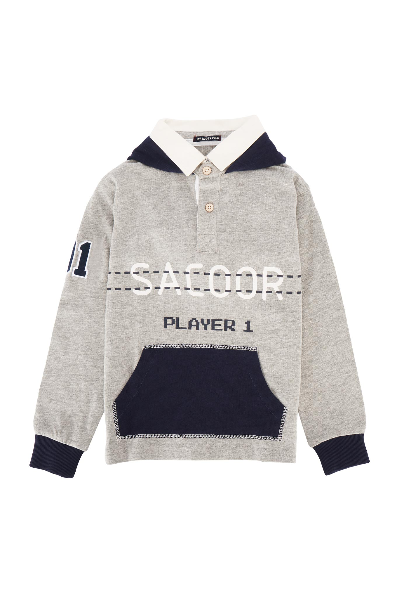 Polo Rugby Light Grey Sport Boy