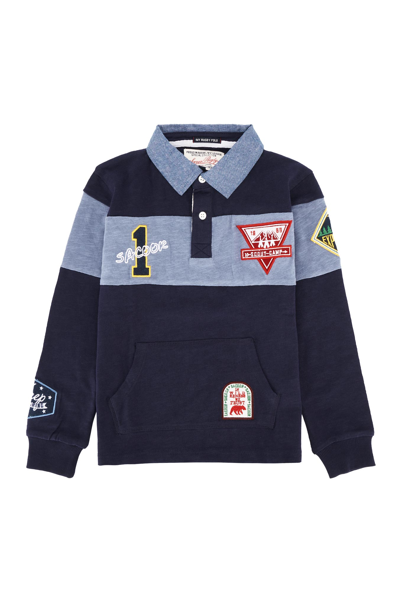 Polo Rugby Dark Blue Sport Boy