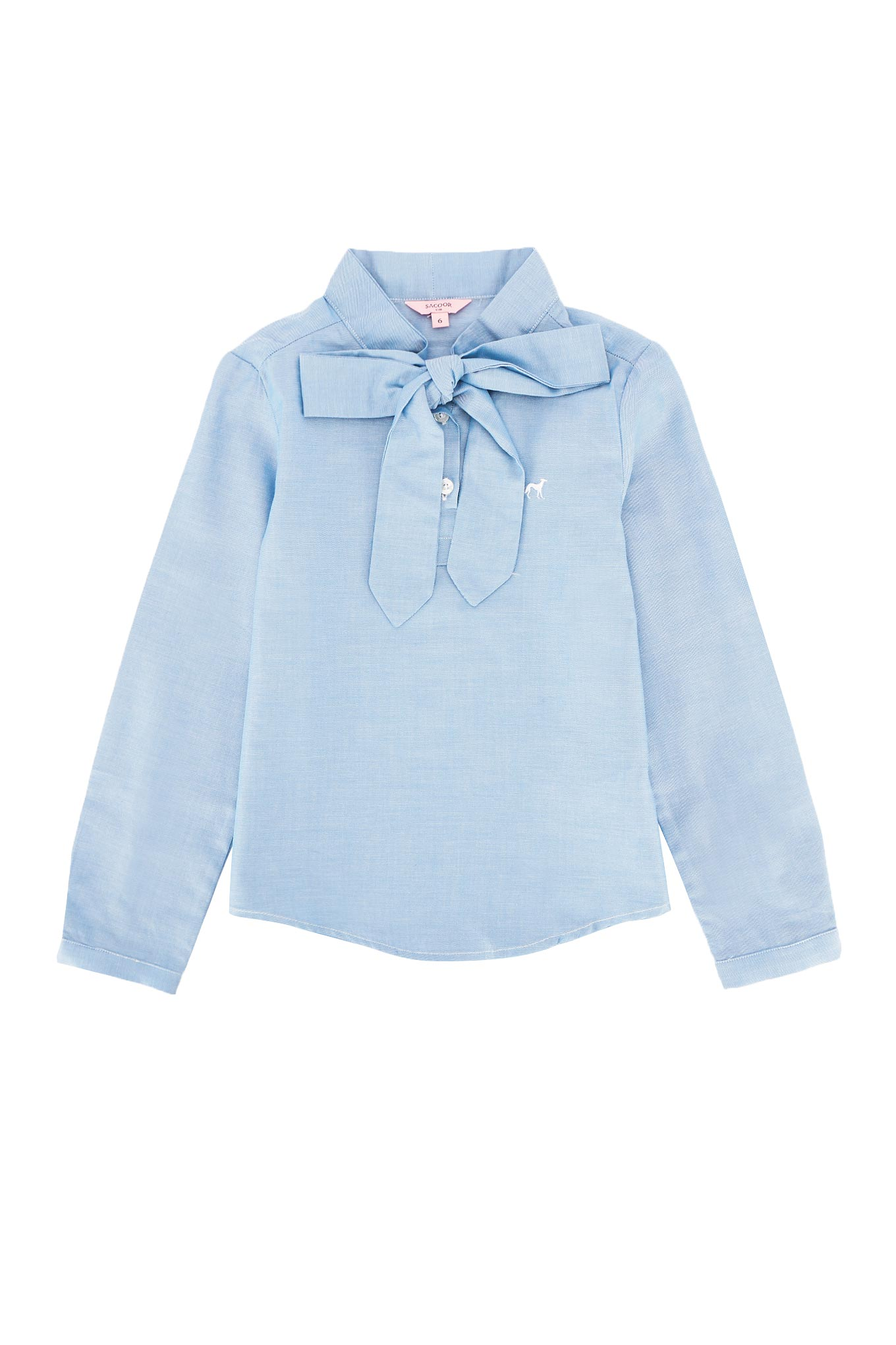 Shirt Light Blue Casual Girl