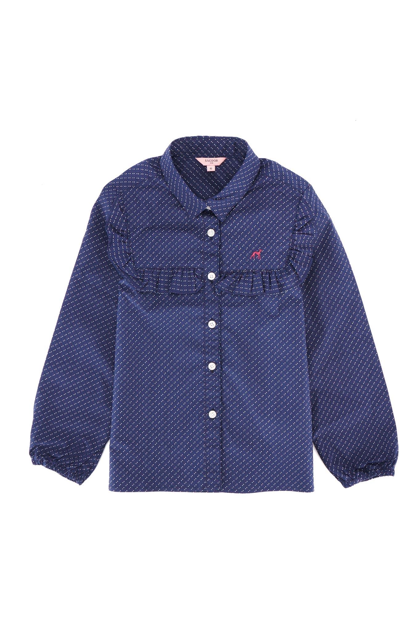 Shirt Dark Blue Casual Girl
