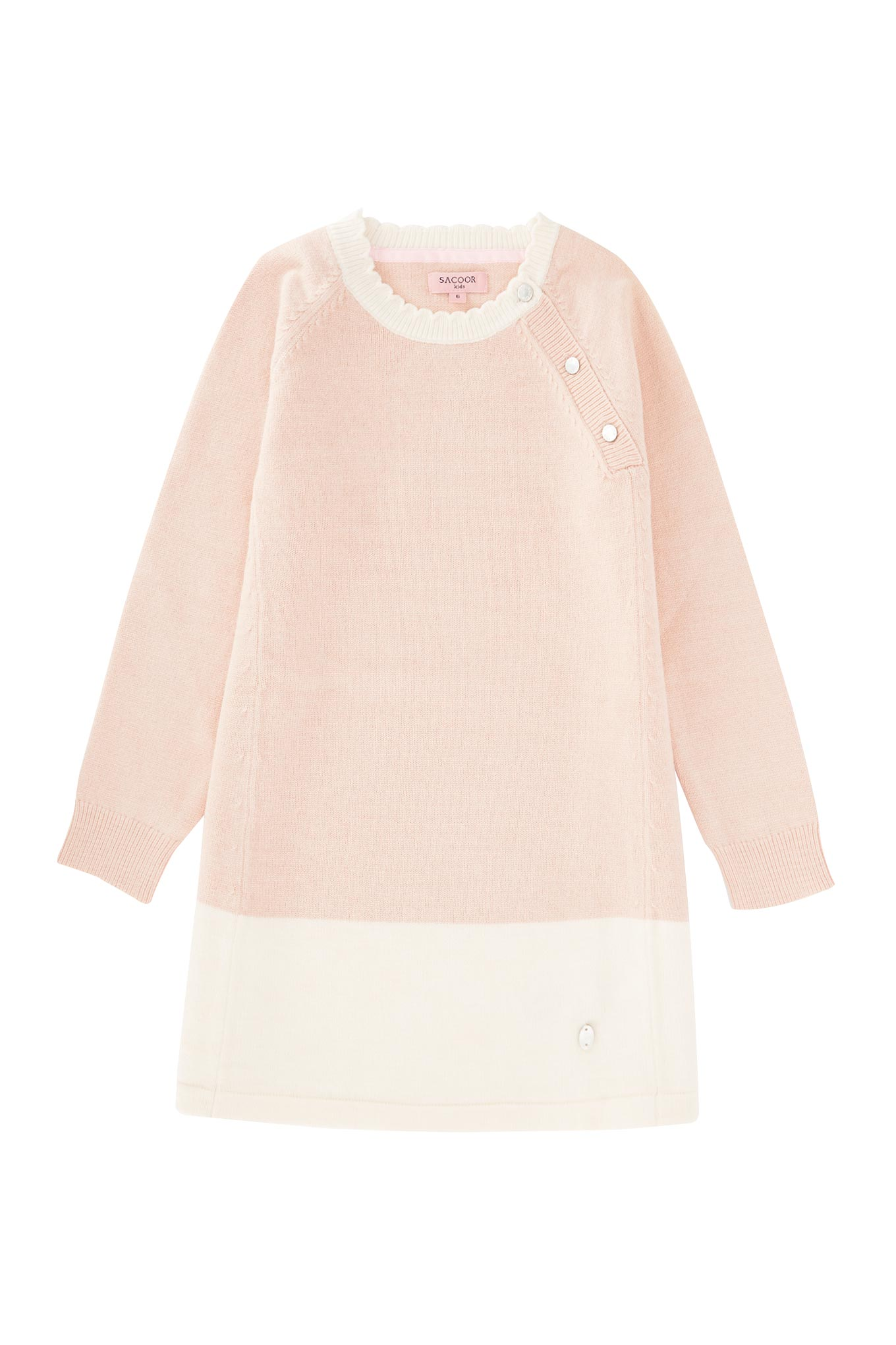 Knitwear Dress Light Pink Casual Girl
