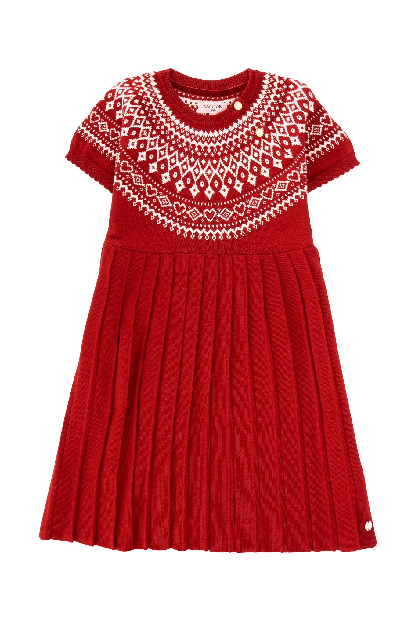 Knitwear Dress Red Casual Girl
