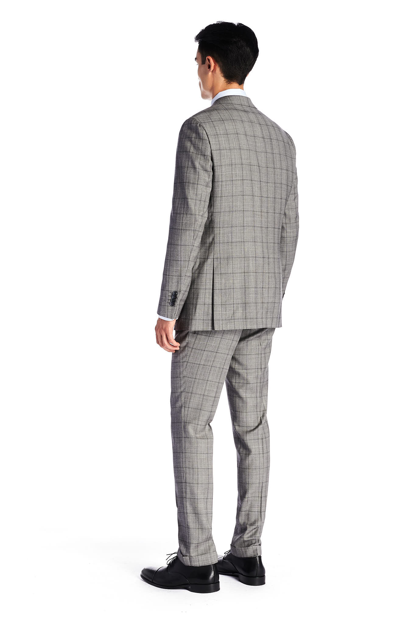 Suit with Vest Grey Classic Man