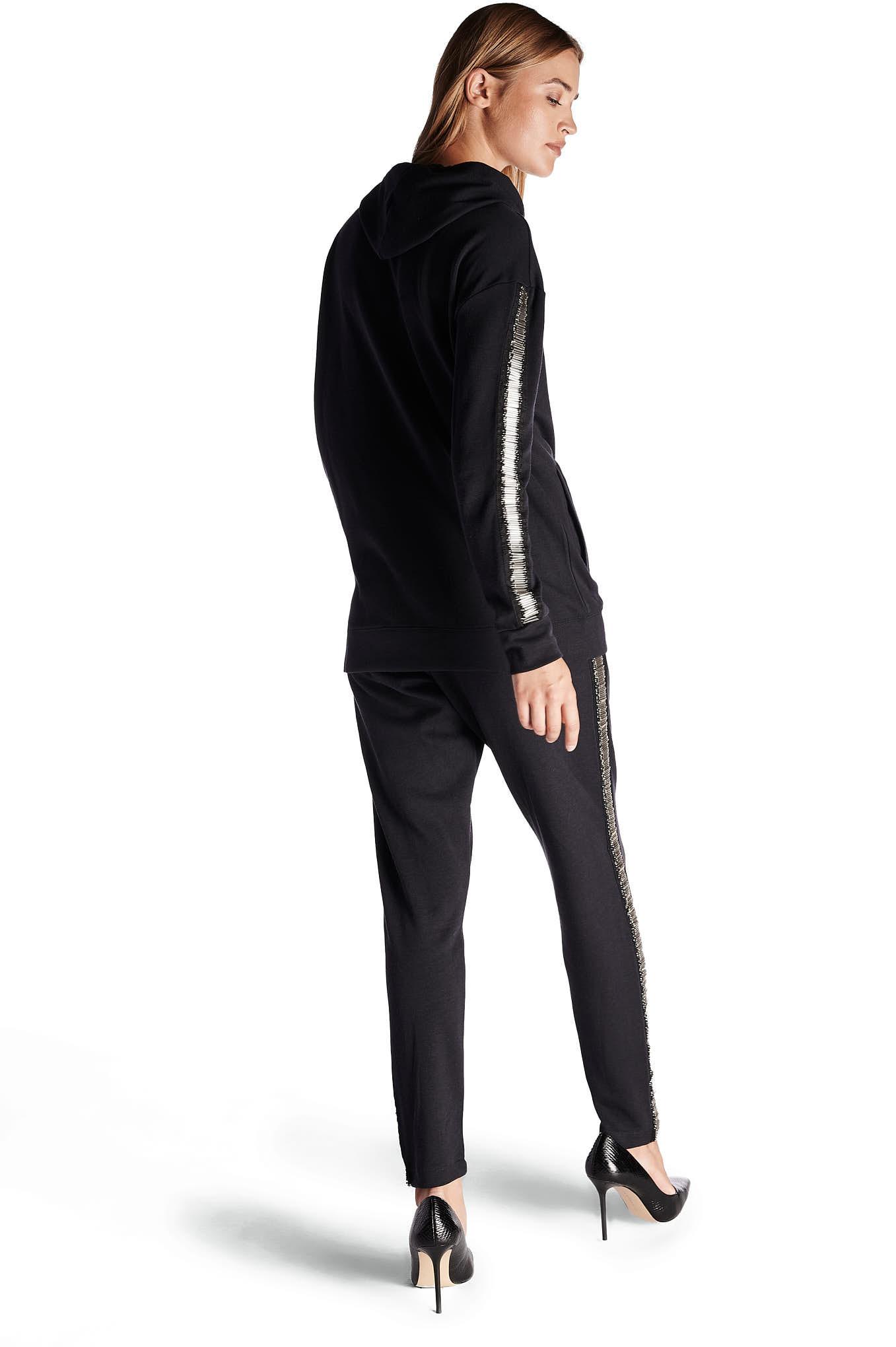 Sweatshirt Black Casual Woman