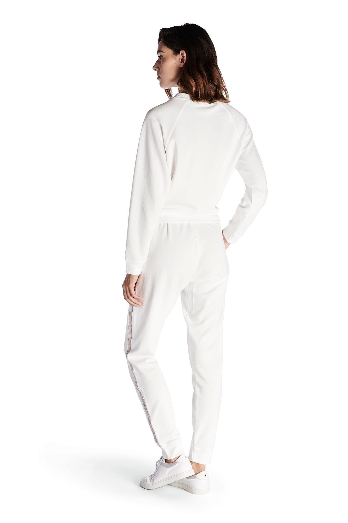 Sweatshirt Ecru Casual Woman