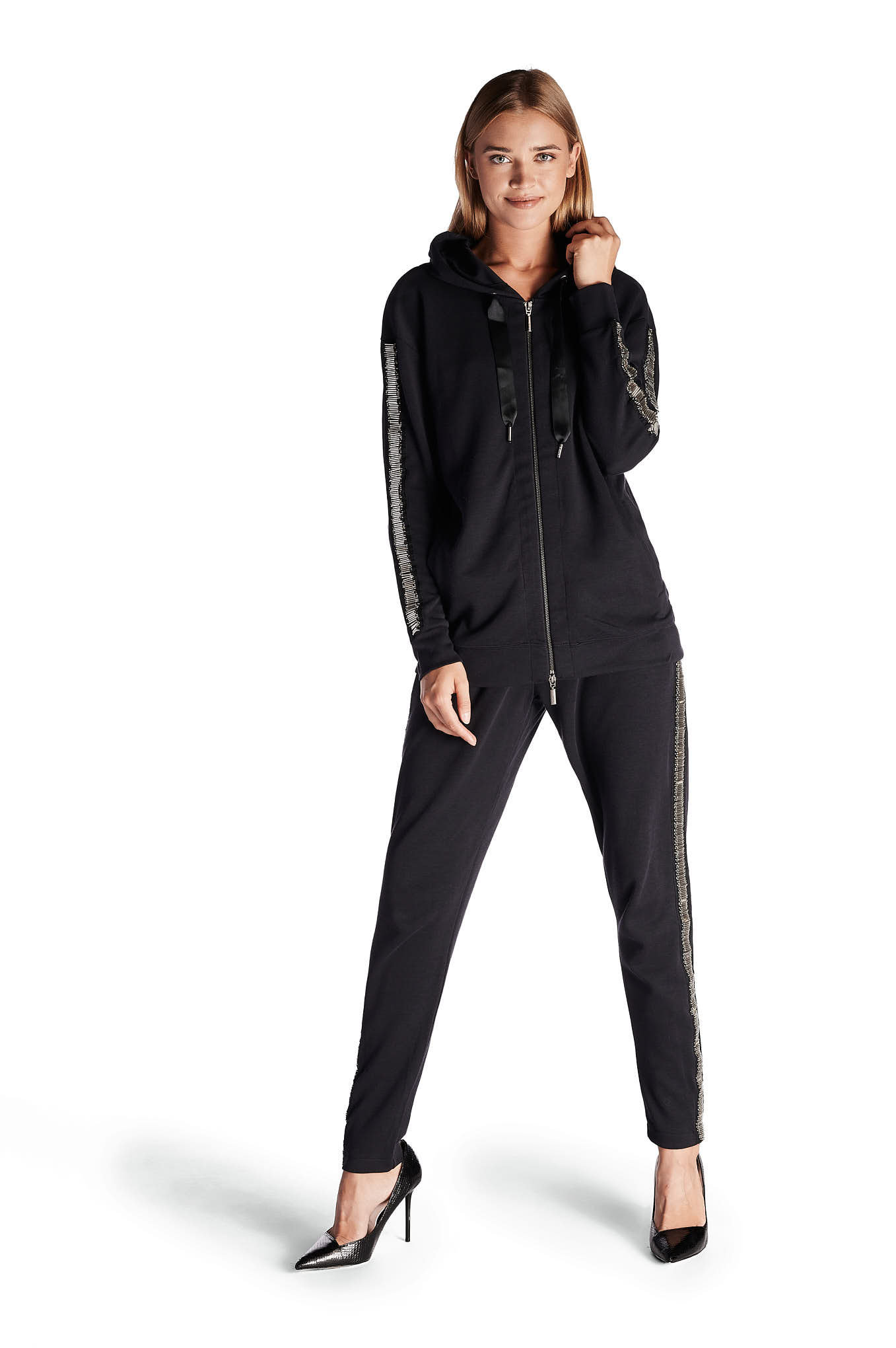 Sportswear Trousers Black Casual Woman