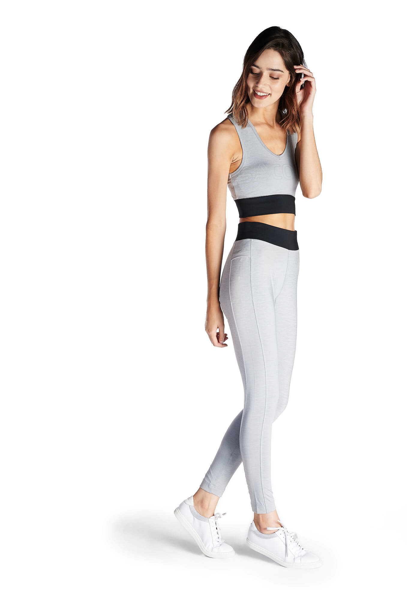 Leggings Dark Grey Sport Woman