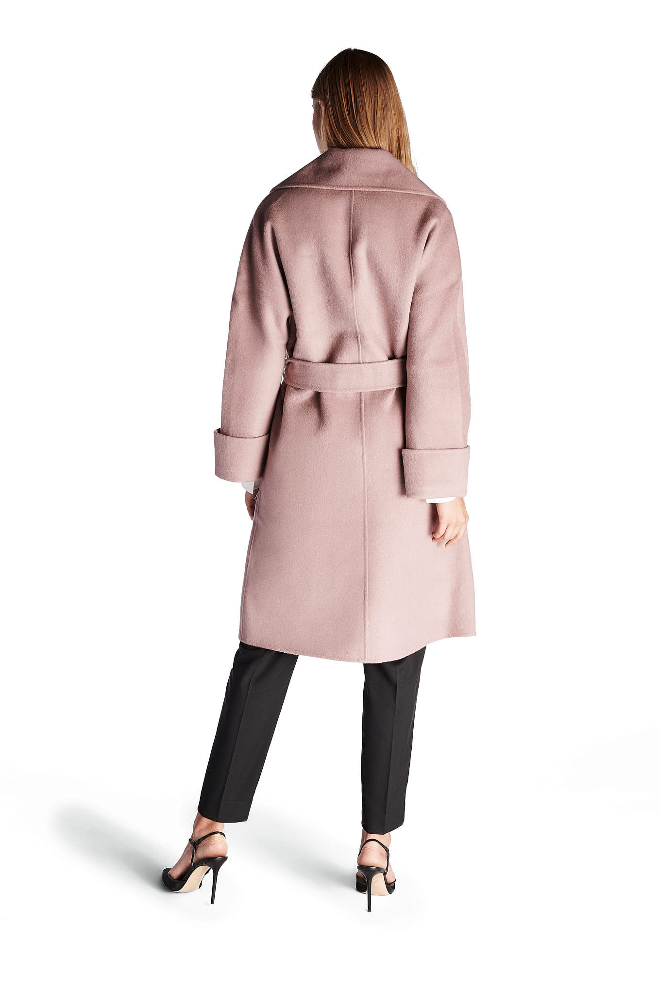 Overcoat Pink Casual Woman