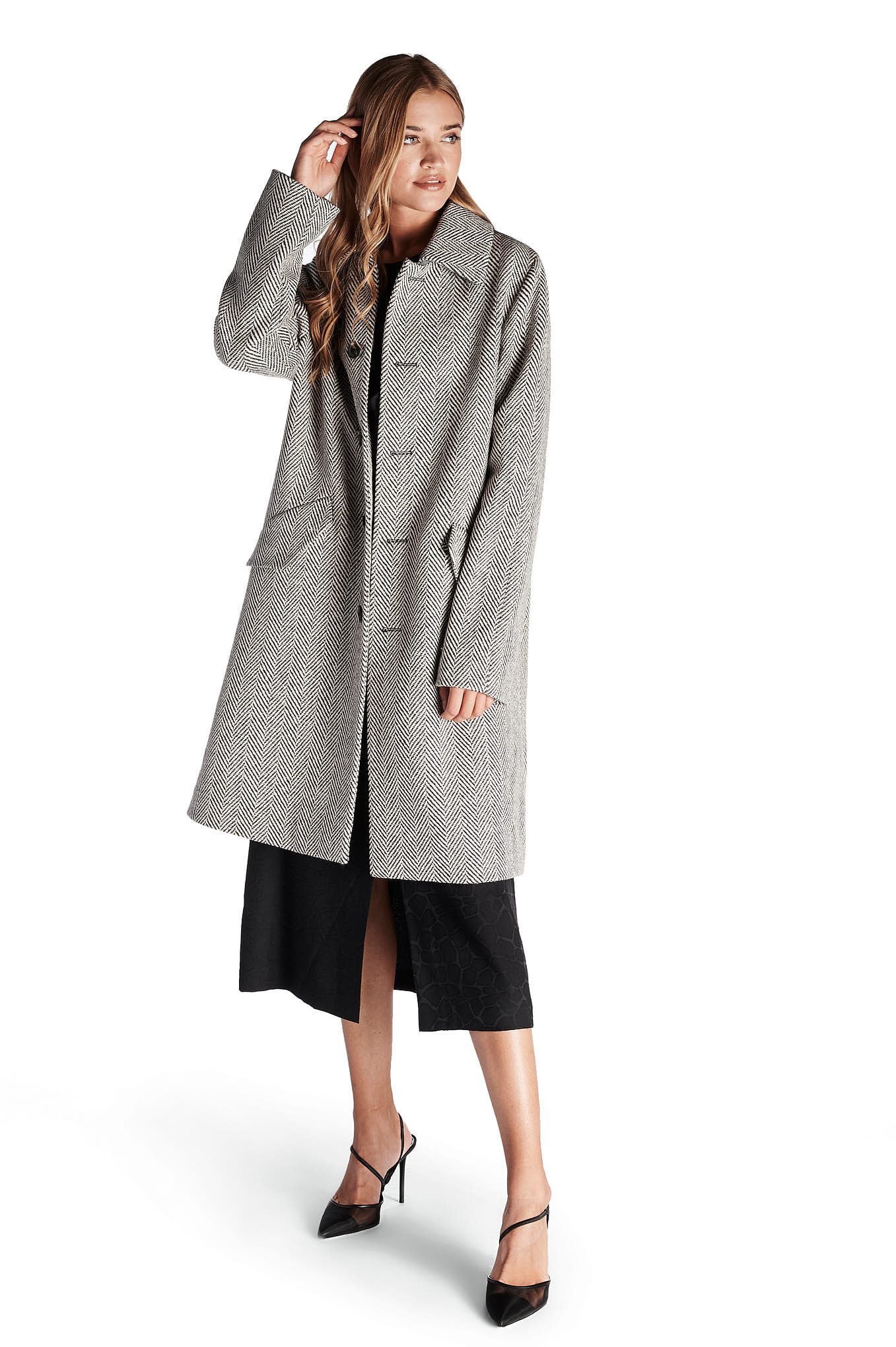 Overcoat Grey Casual Man