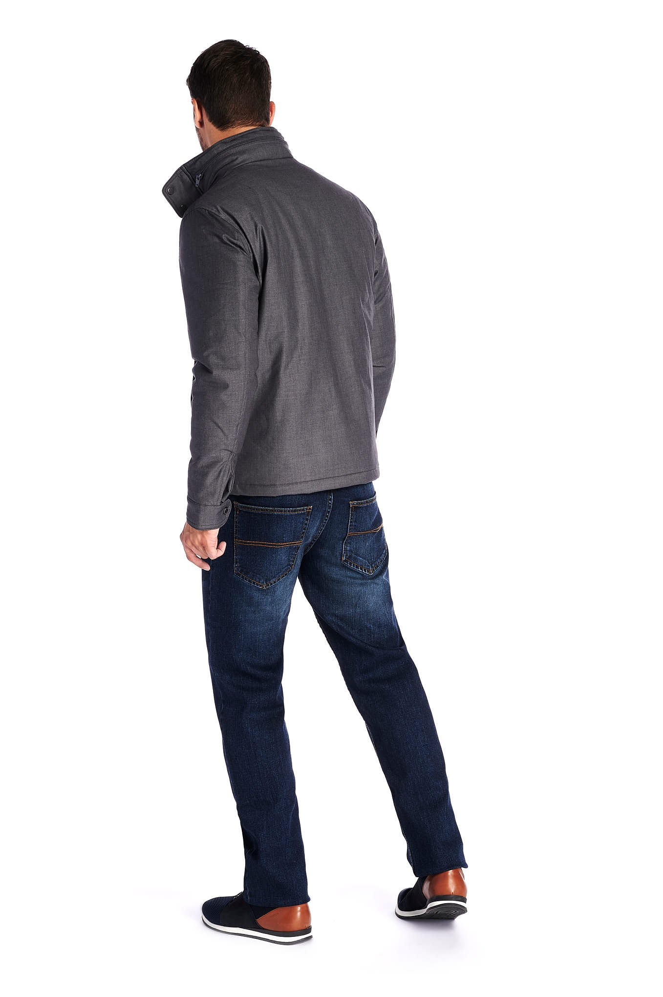 Jacket Grey Casual Man