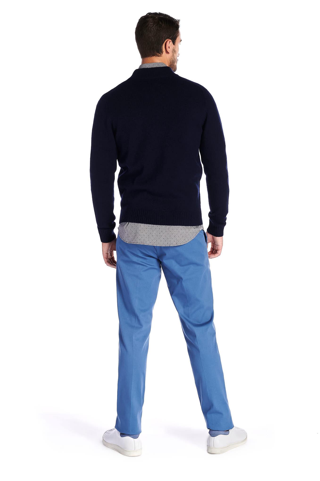 Cardigan Dark Blue Casual Man