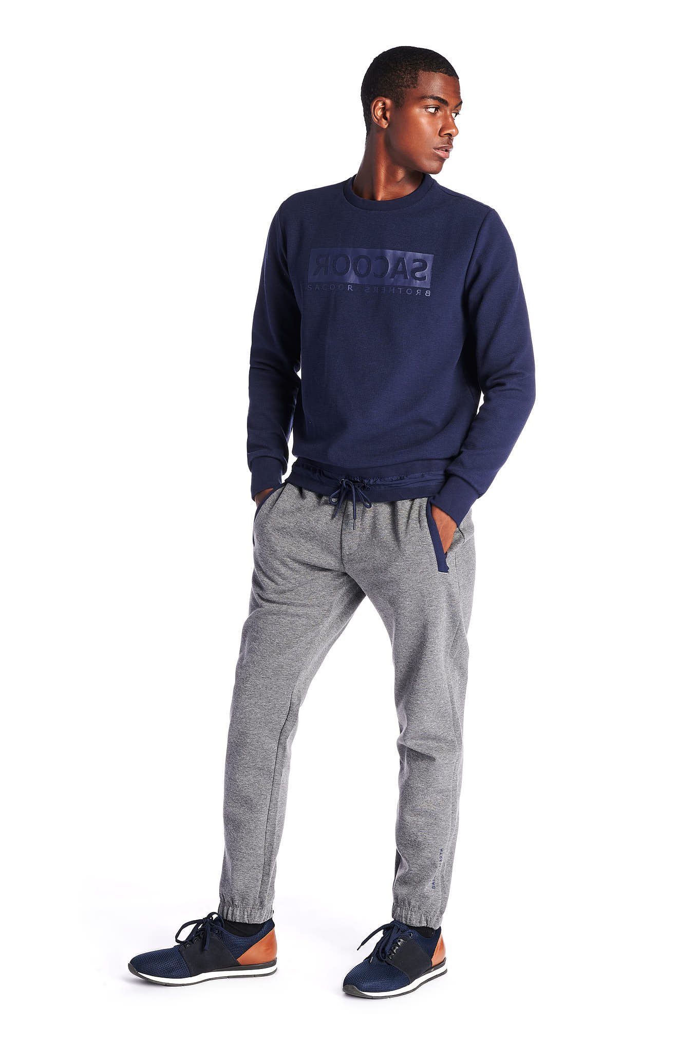 Sweatshirt Azul Escuro Sport Homem