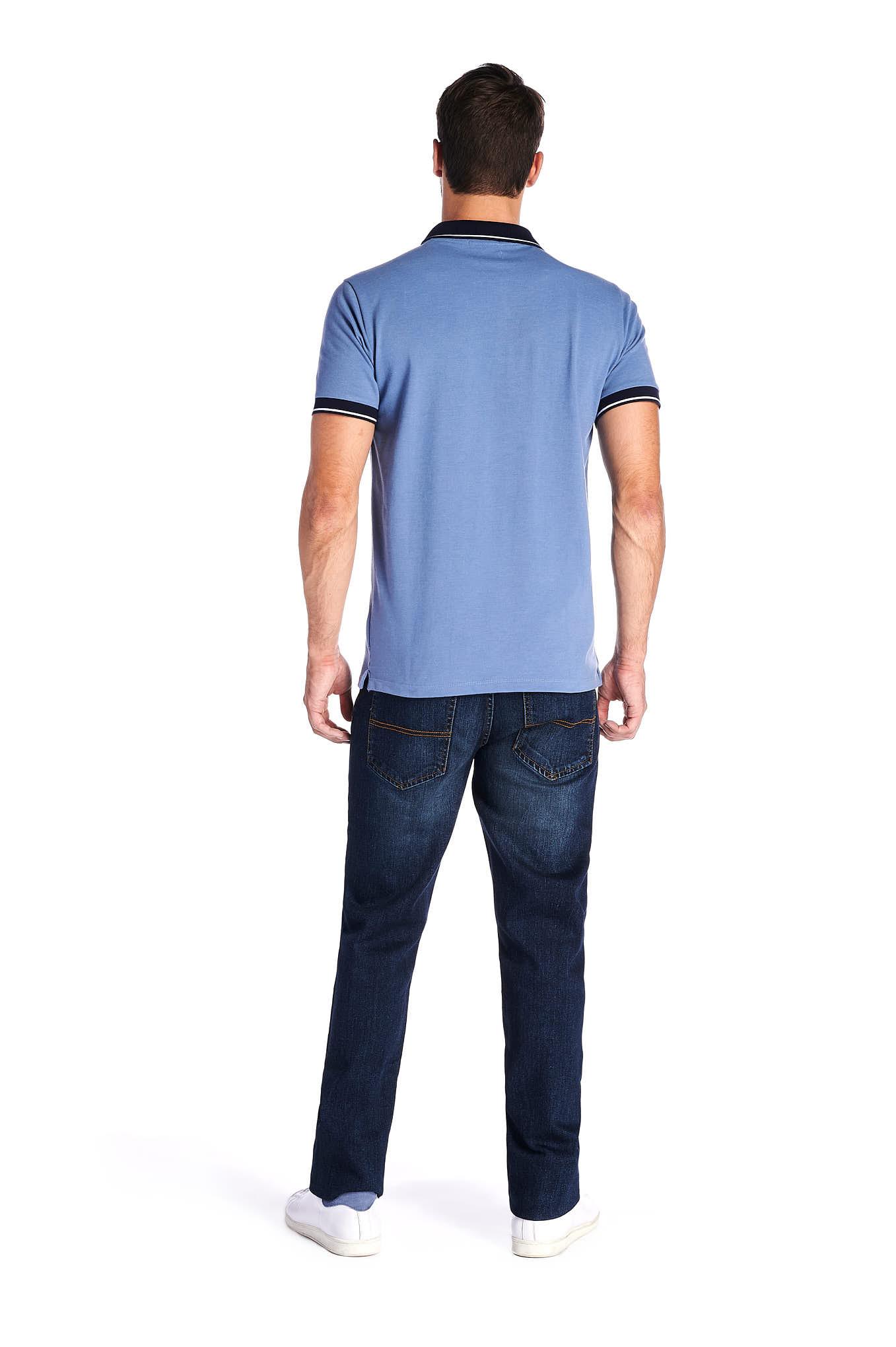 Polo Piquet Azul Sport Homem