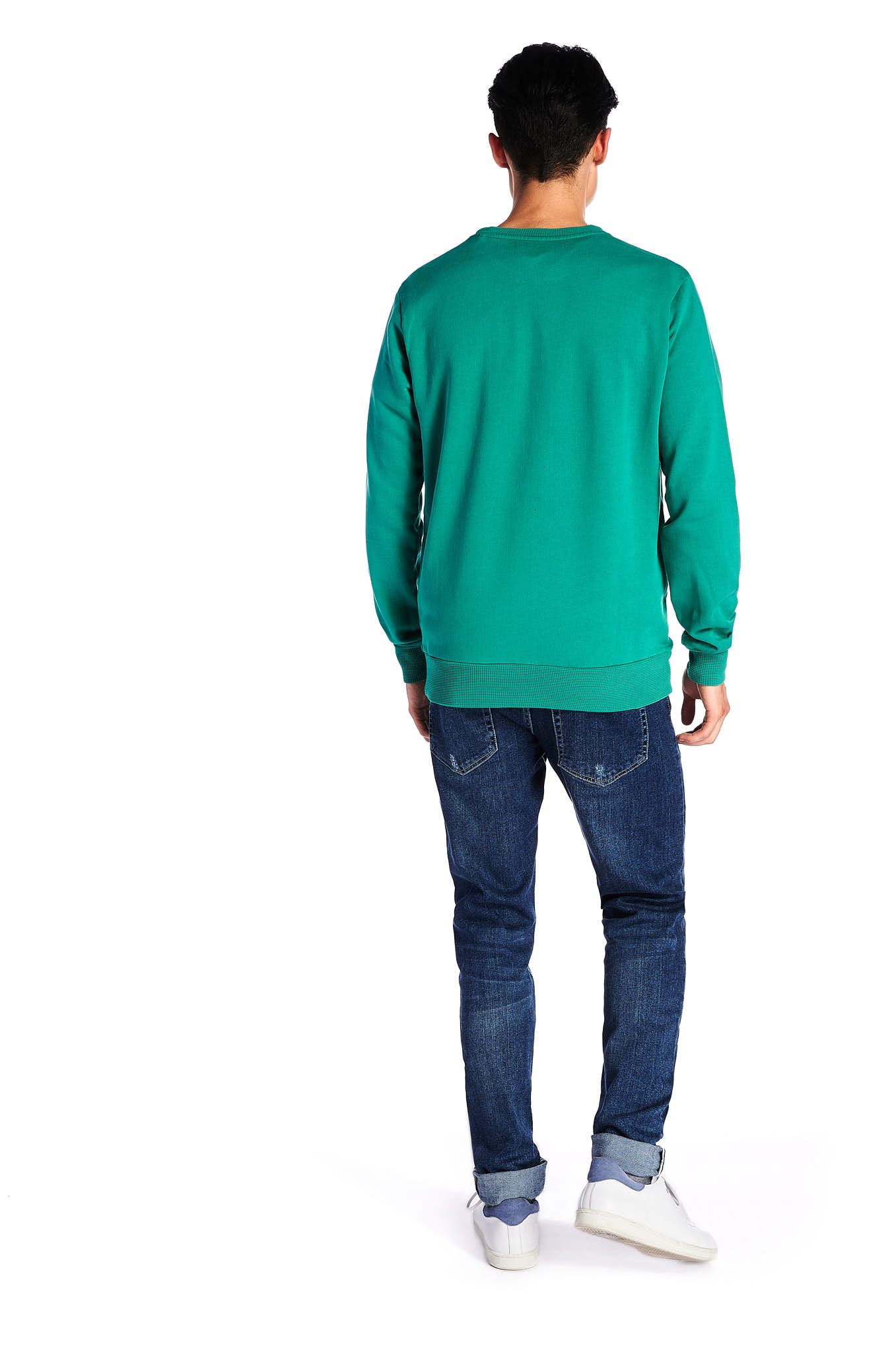 Sweatshirt Green Sport Man
