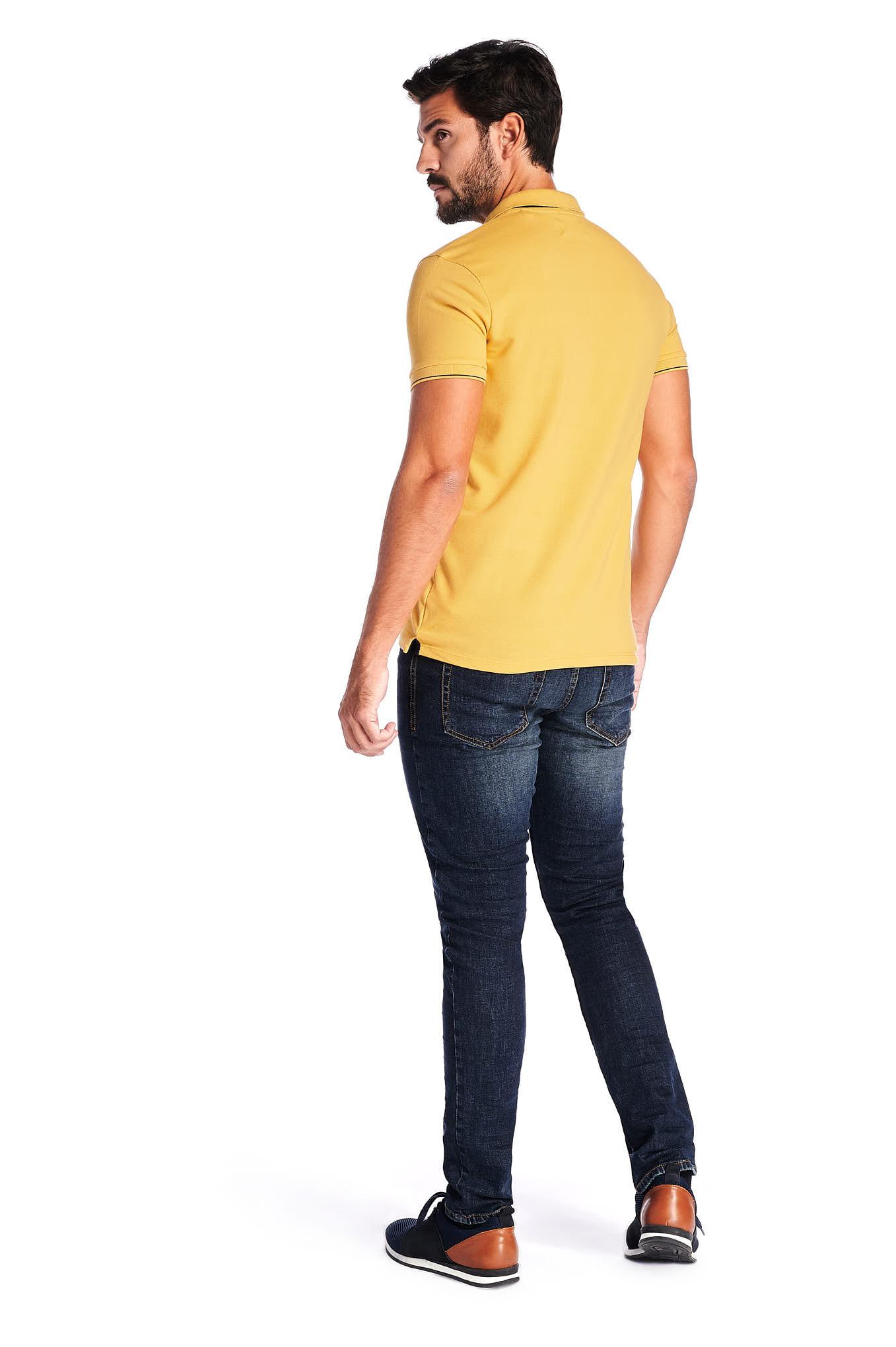 Polo Piquet Yellow Sport Man