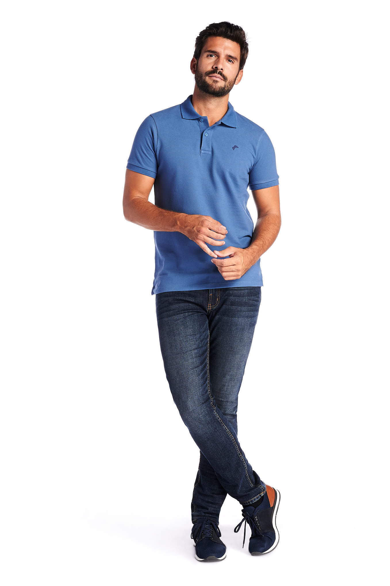 Polo Piquet Blue Sport Man