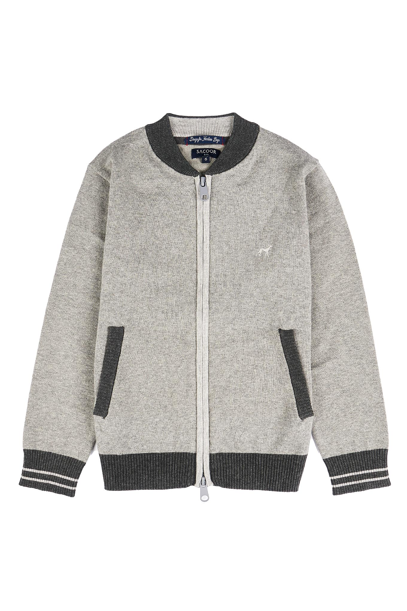 Cardigan Mix Grey Casual Boy