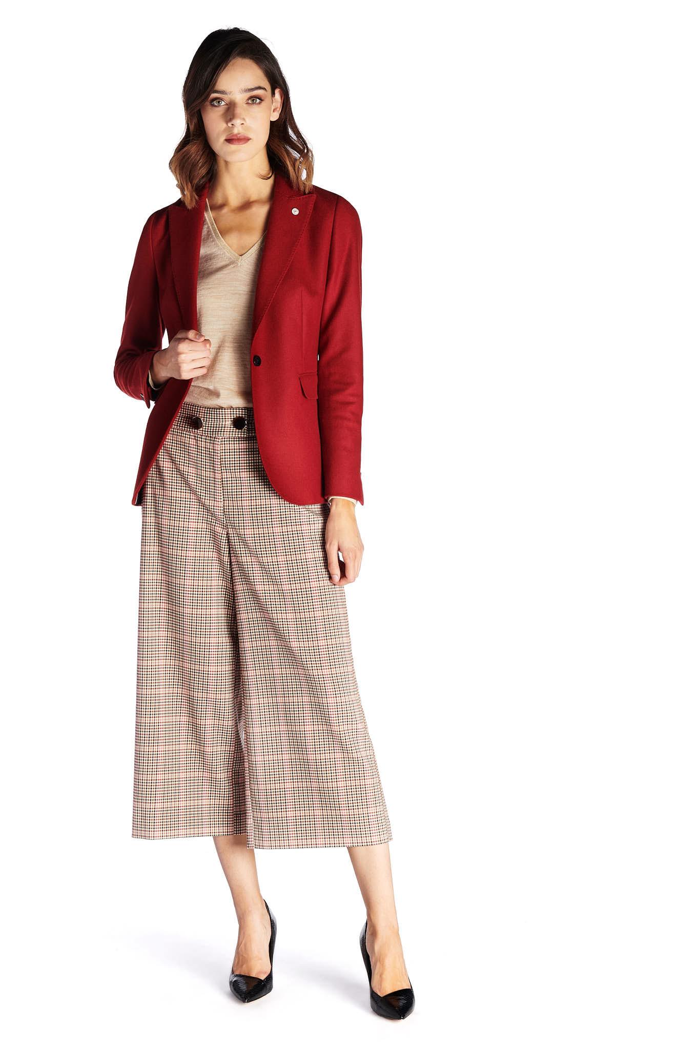 Blazer Red Classic Woman