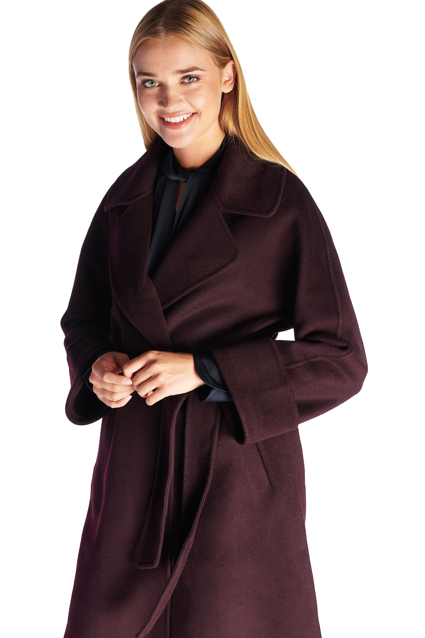 Overcoat Bordeaux Casual Woman