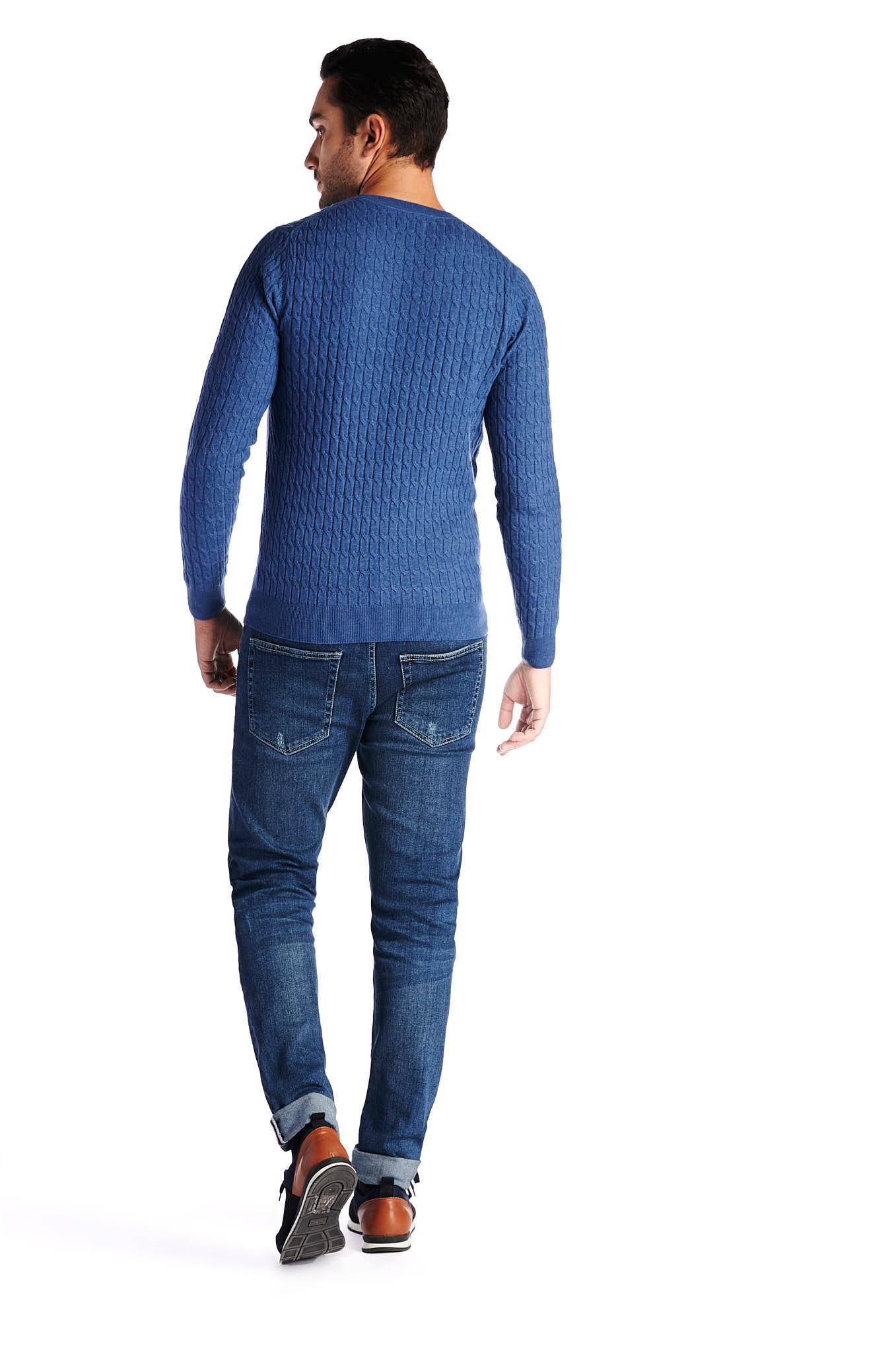 Sweater Blue Casual Man