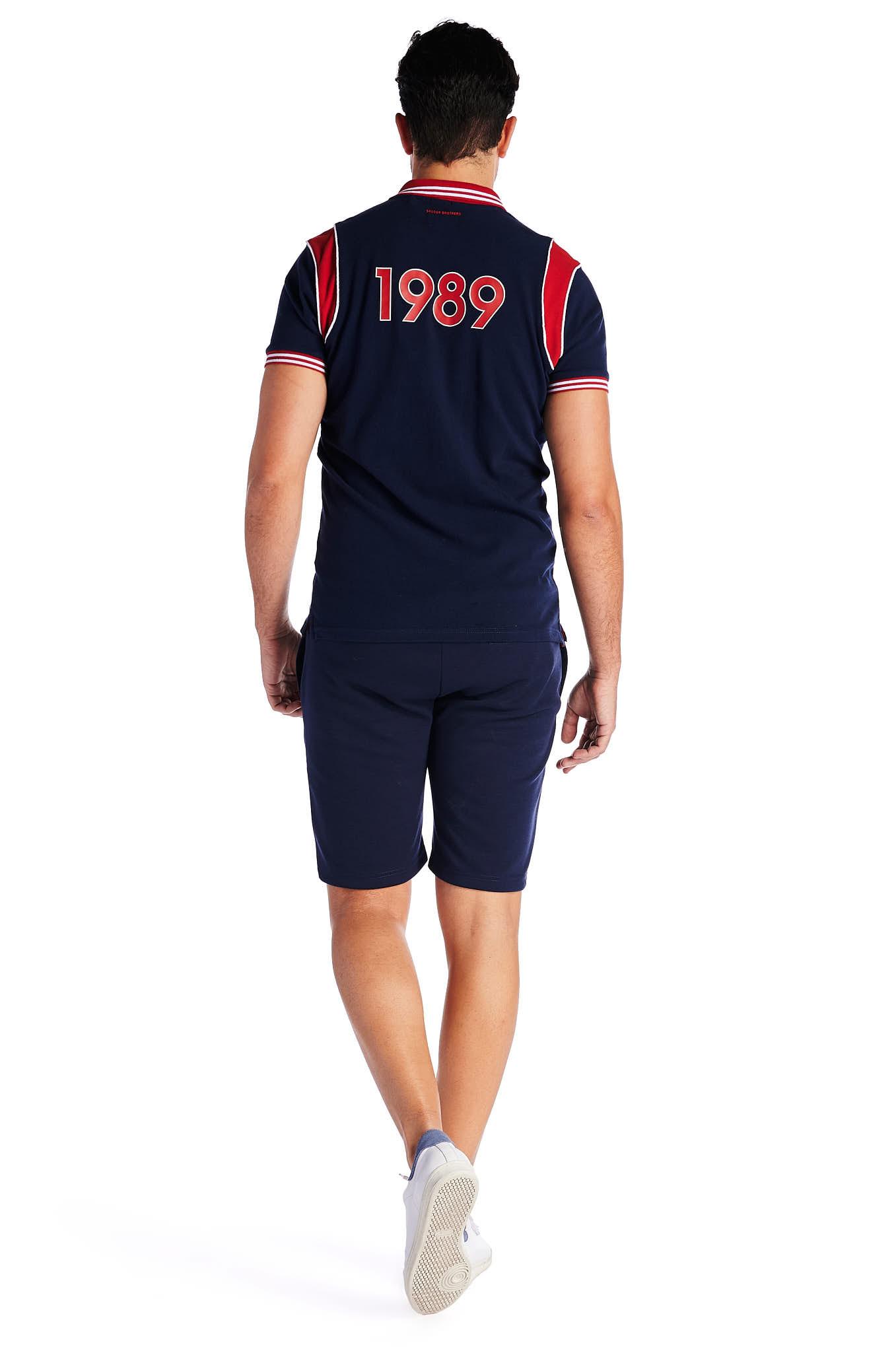 Polo Piquet Azul Escuro Sport Homem