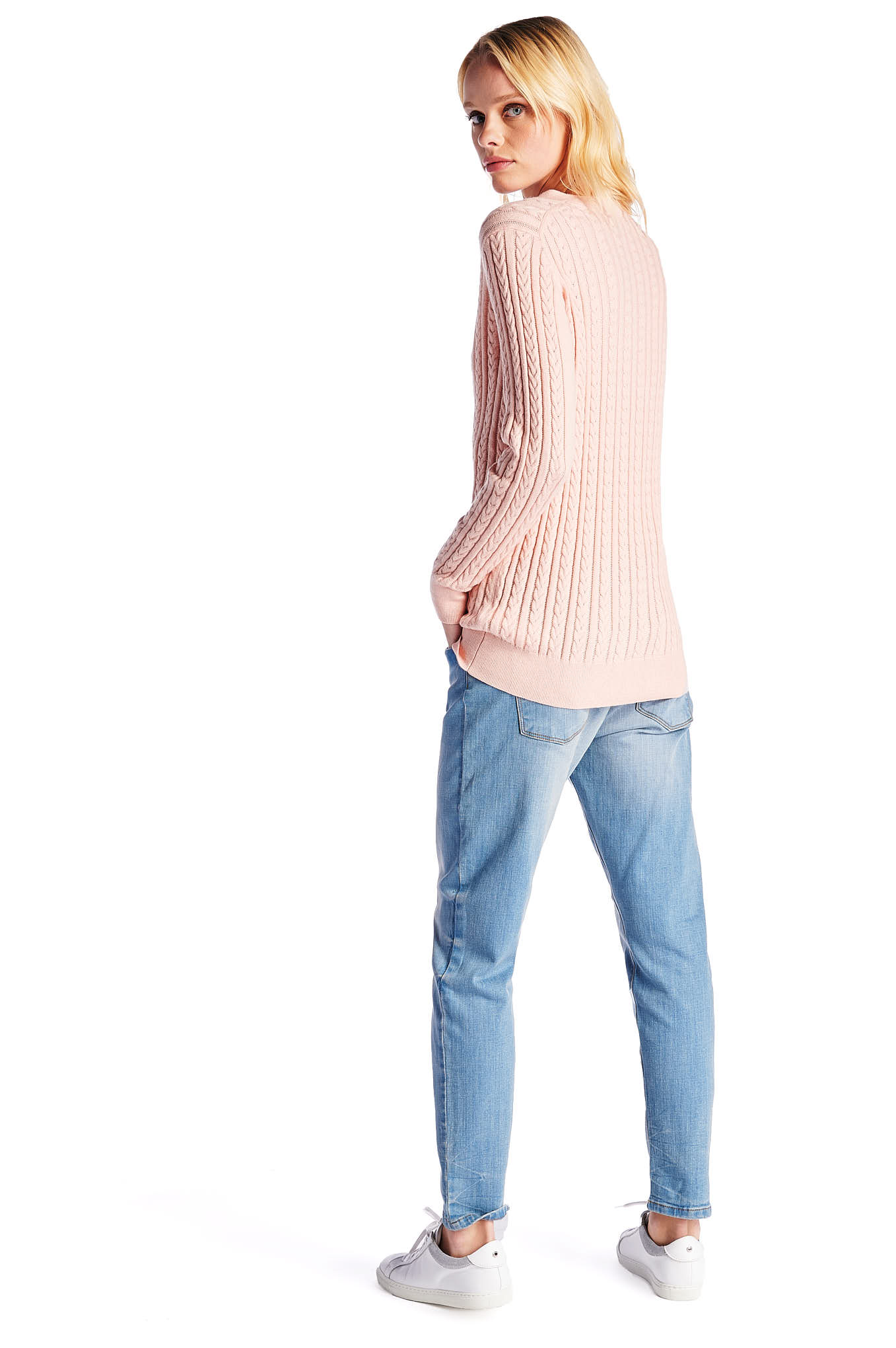 Sweater Light Pink Casual Woman
