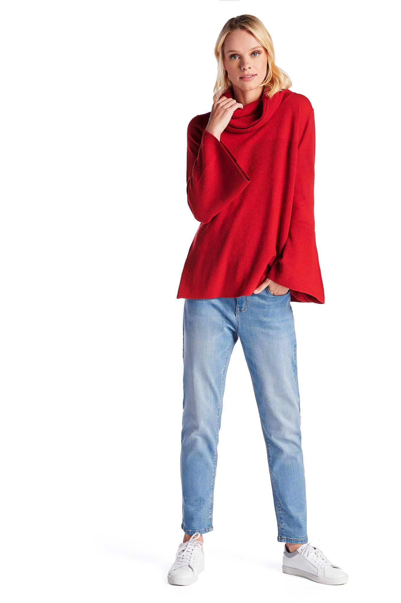Malha Vermelho Casual Mulher