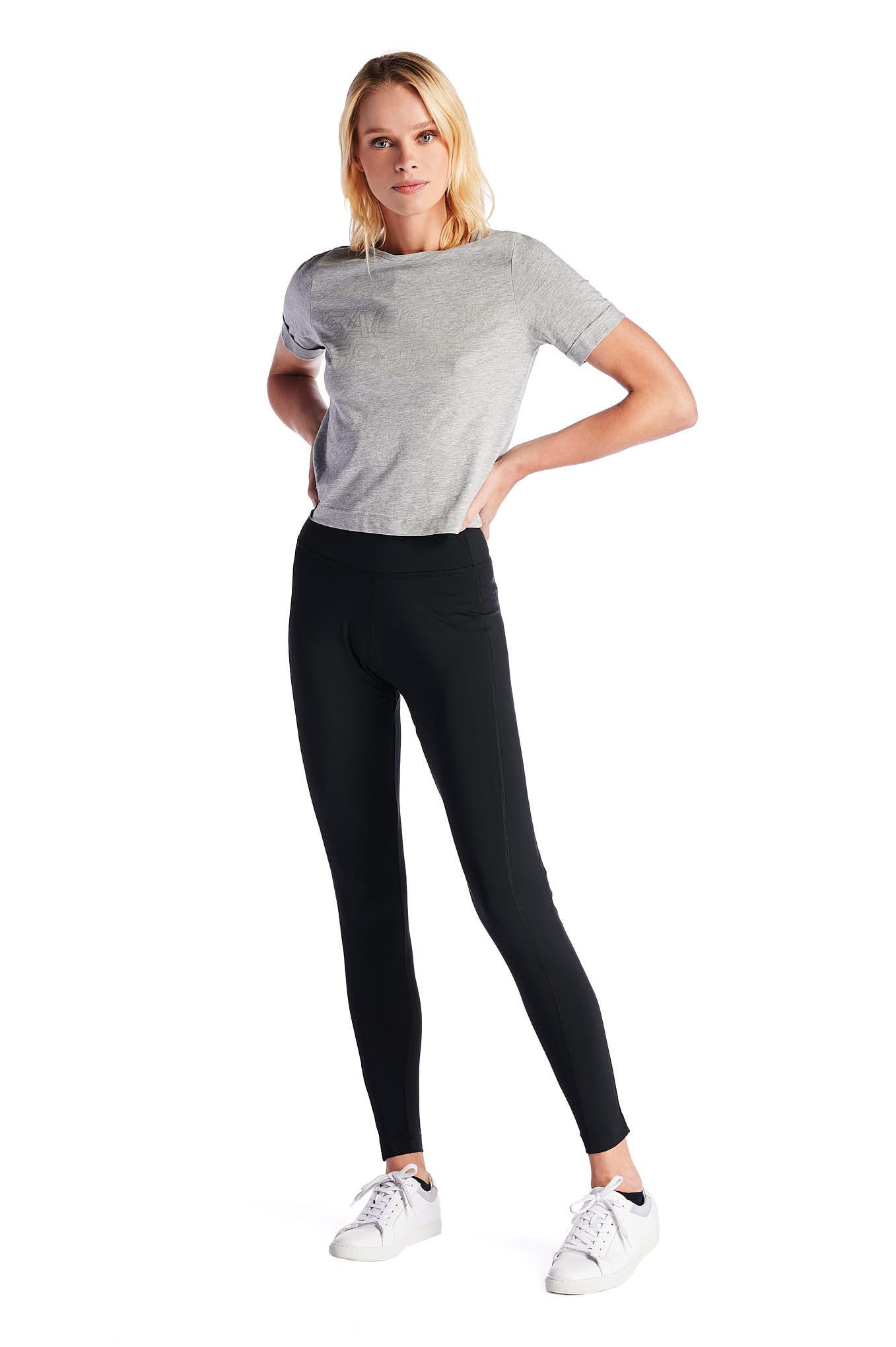 T-Shirt Cinzento Escuro Sport Mulher