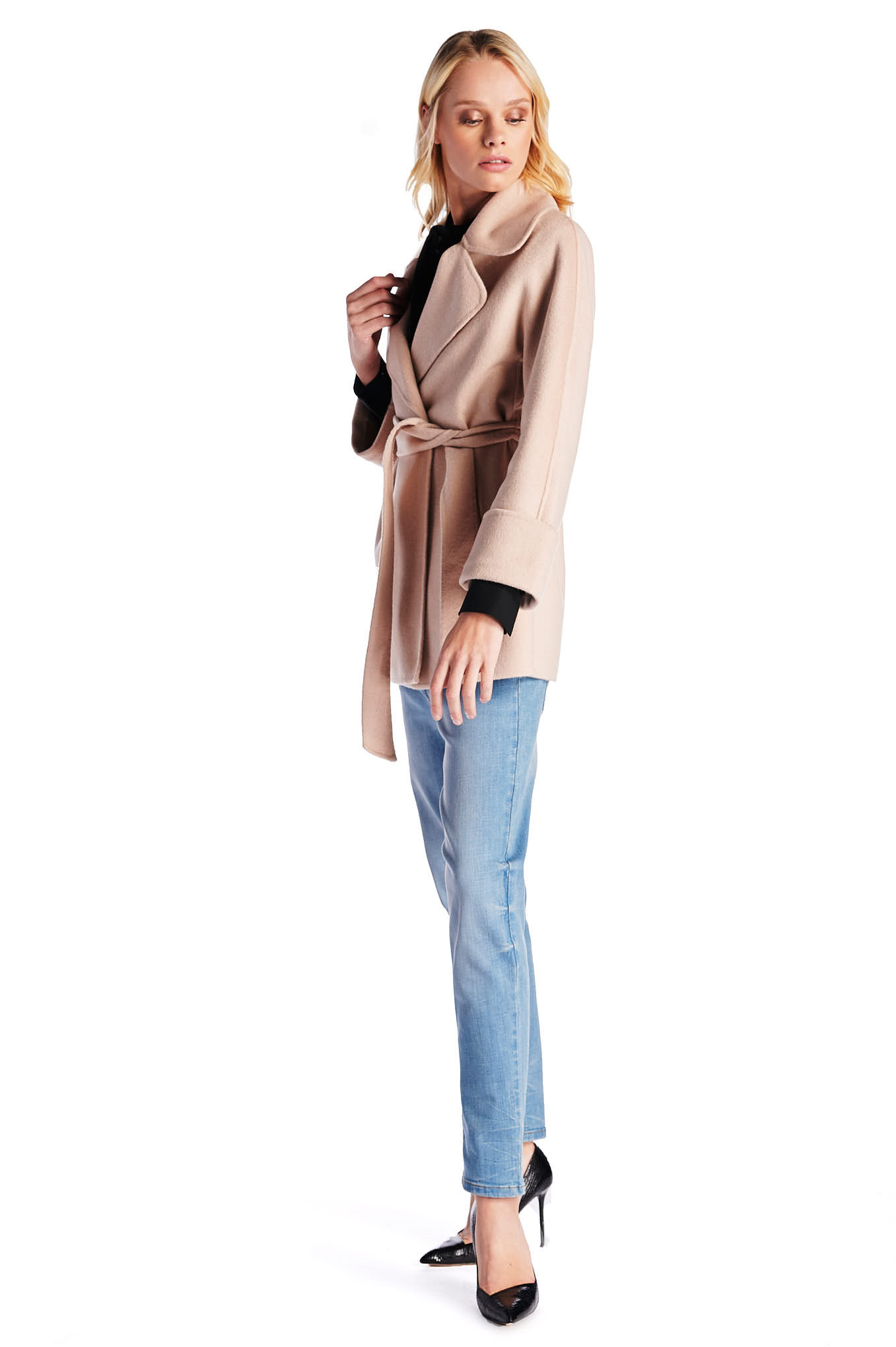Coat Beige Casual Woman