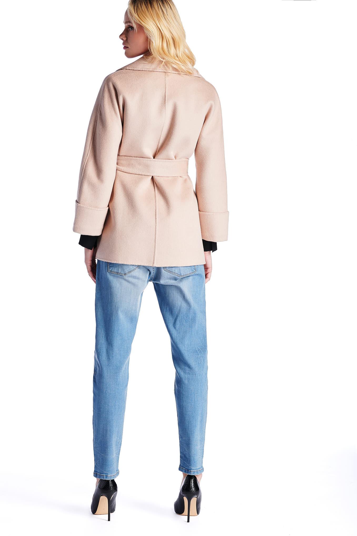 Coat Beige Casual Woman