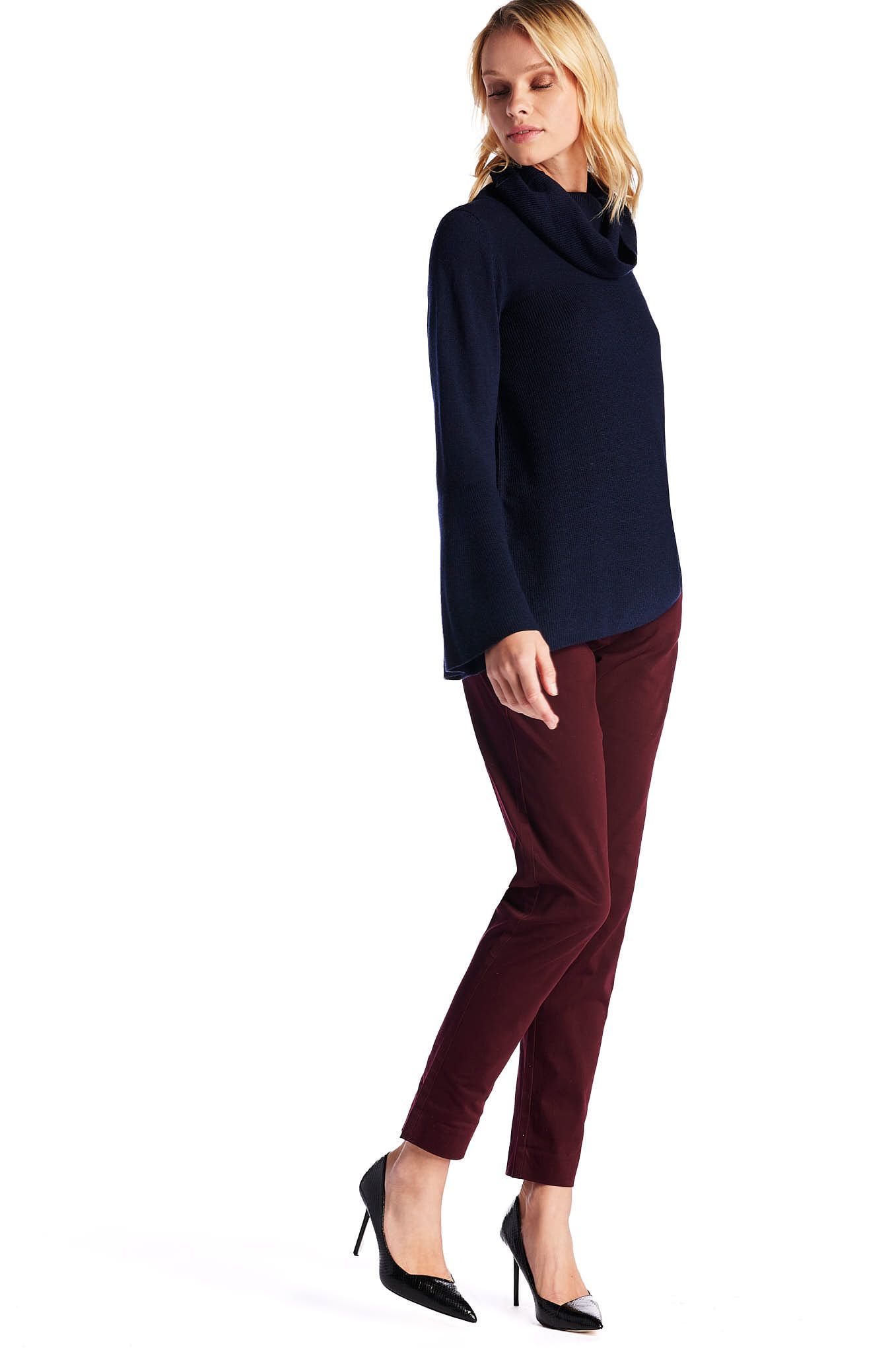 Chino Trousers Bordeaux Casual Woman