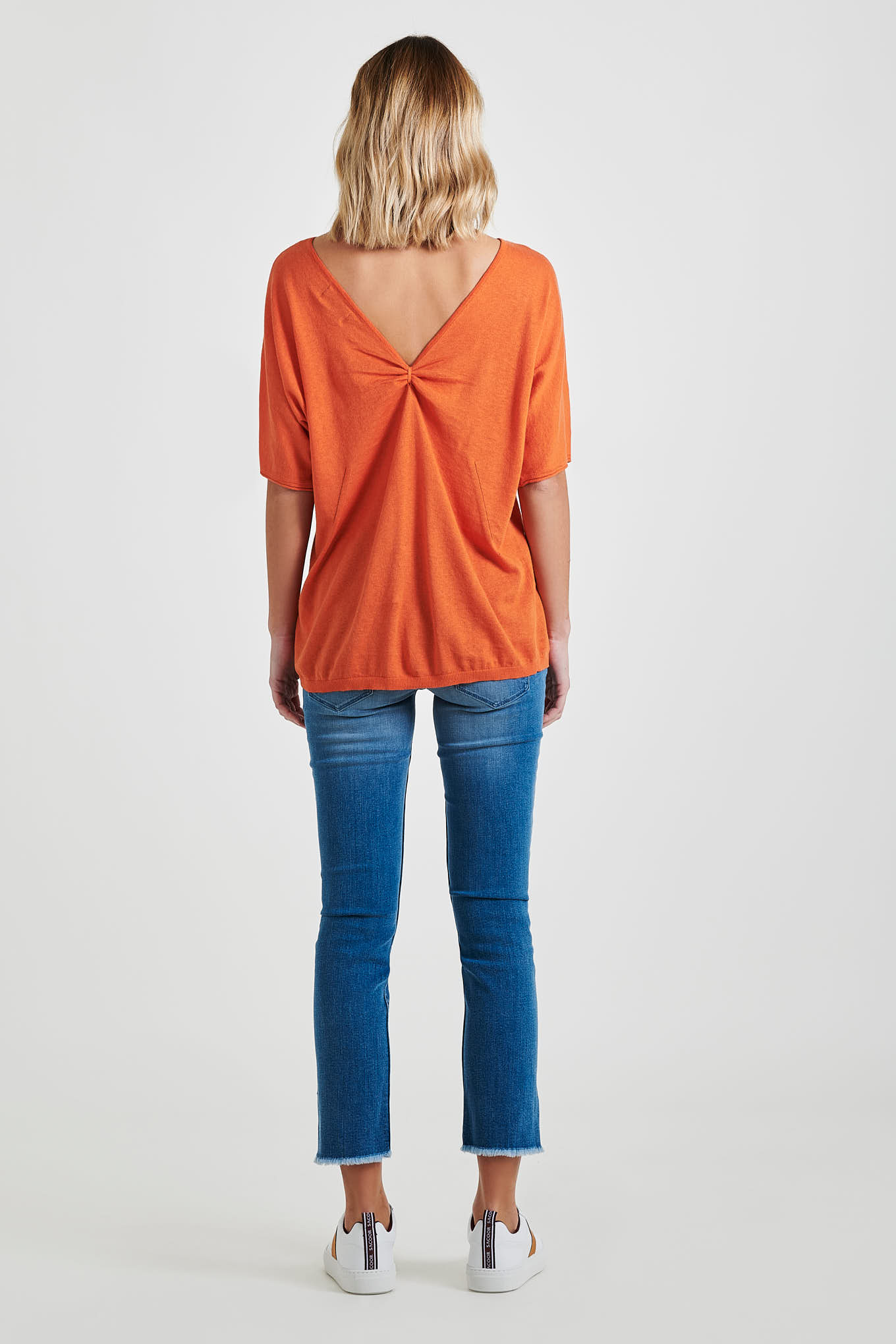 Sweater Orange Casual Woman