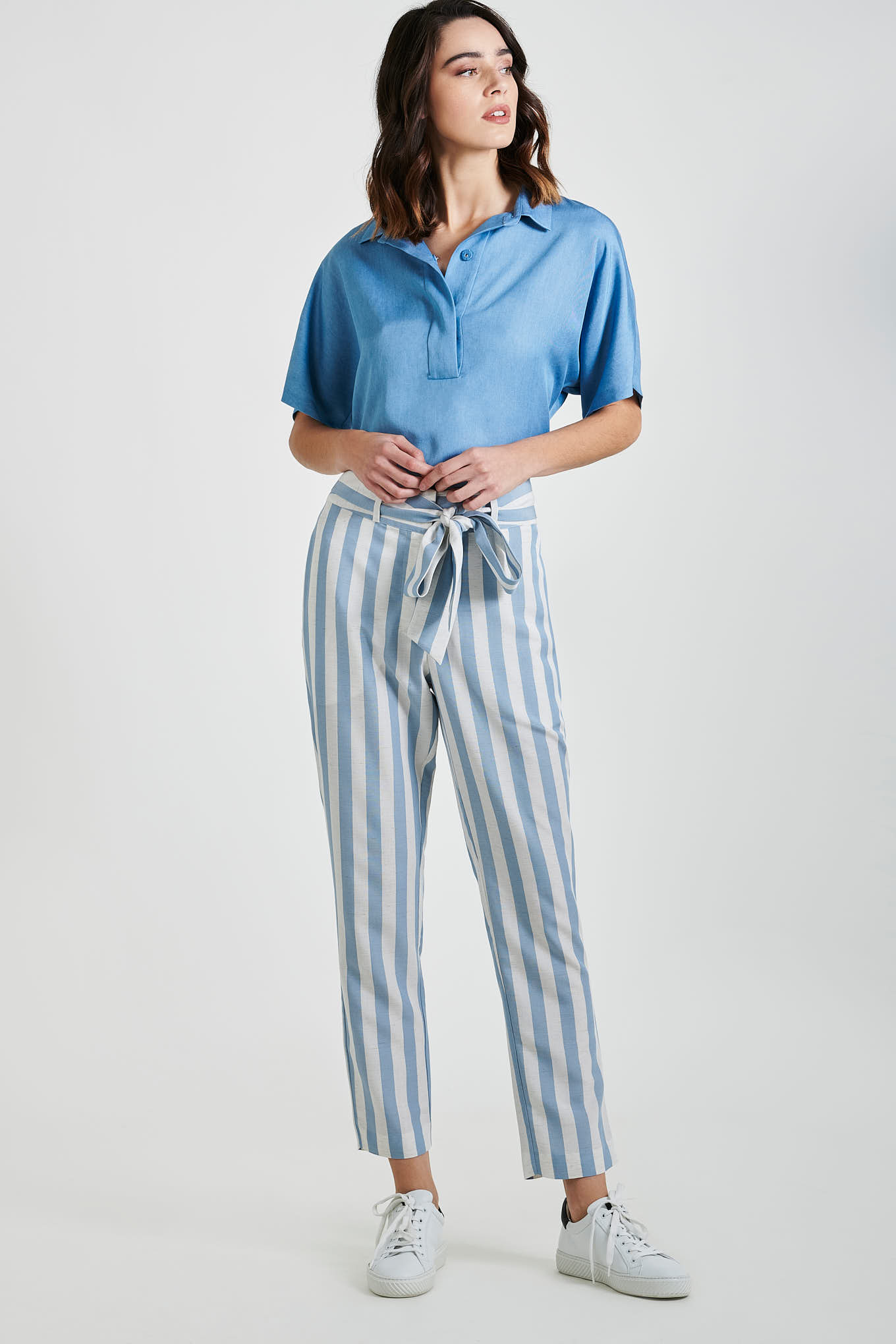 Trousers Light Blue Fantasy Woman
