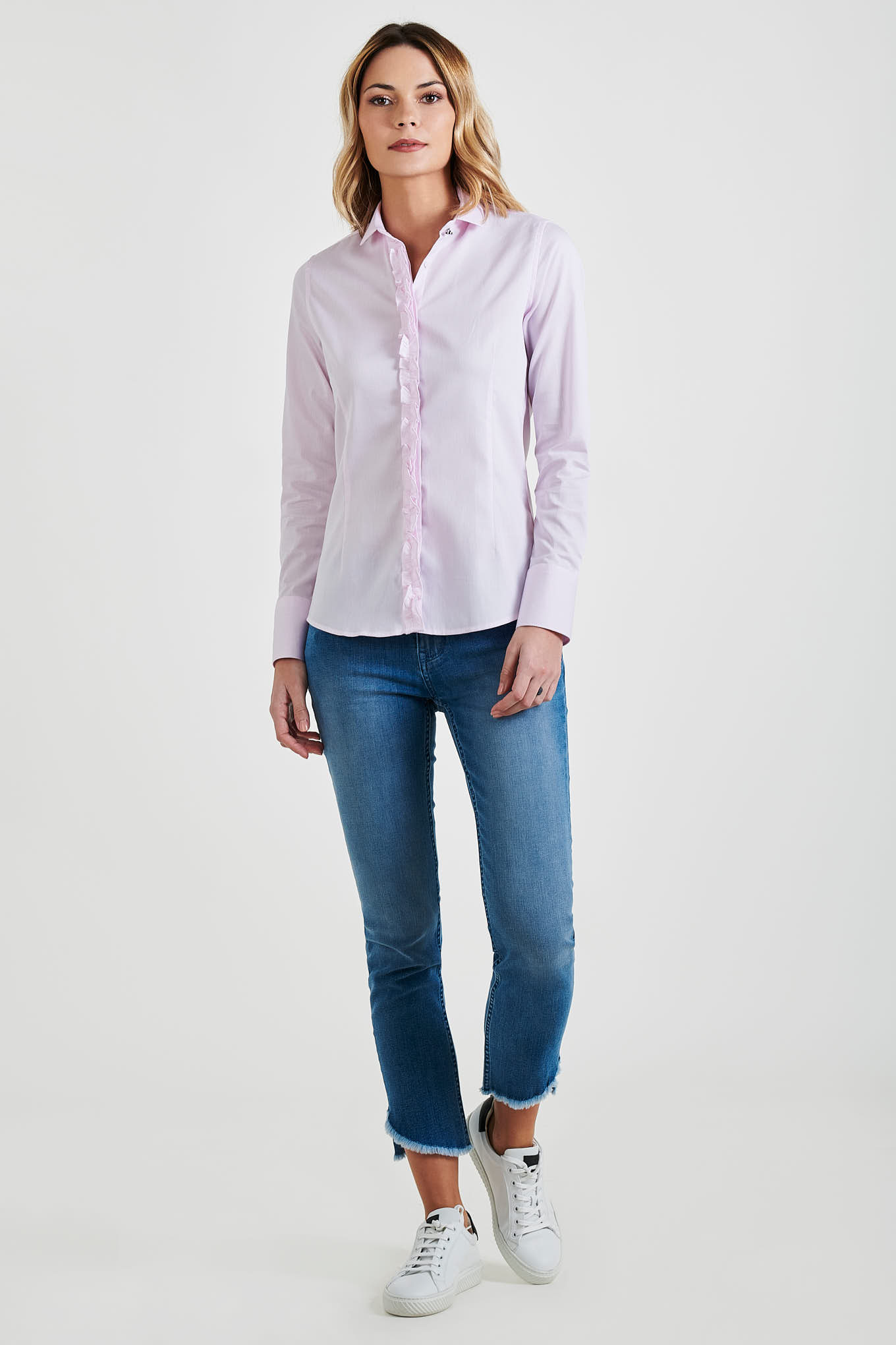 Shirt Light Pink Classic Woman