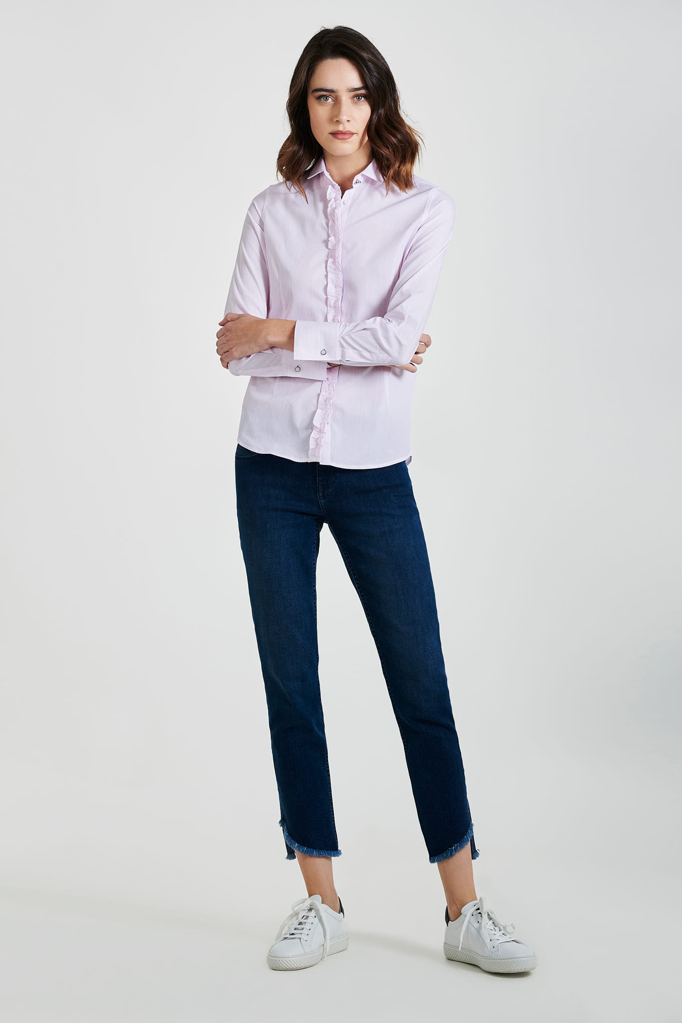 Camisa Rosa Classic Mulher