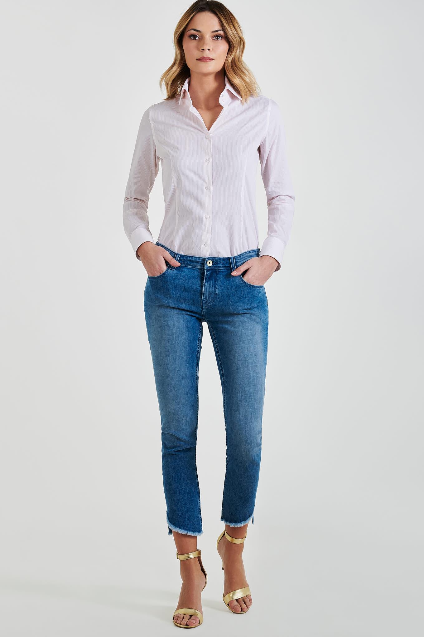 Camisa Laranja Classic Mulher