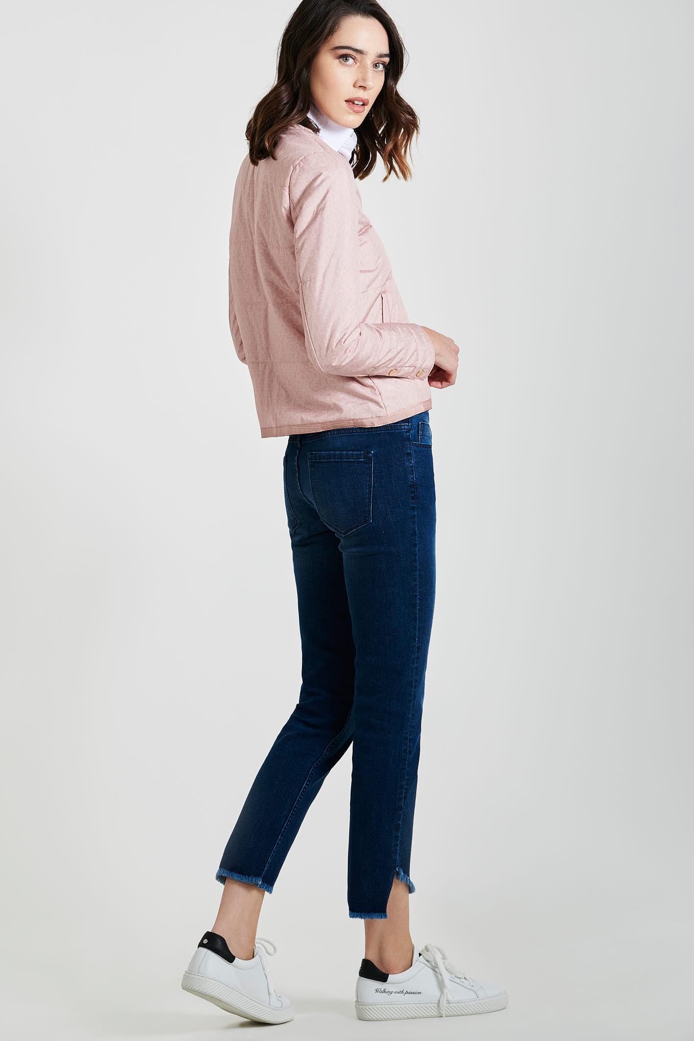 Blusão Rosa Claro Casual Mulher