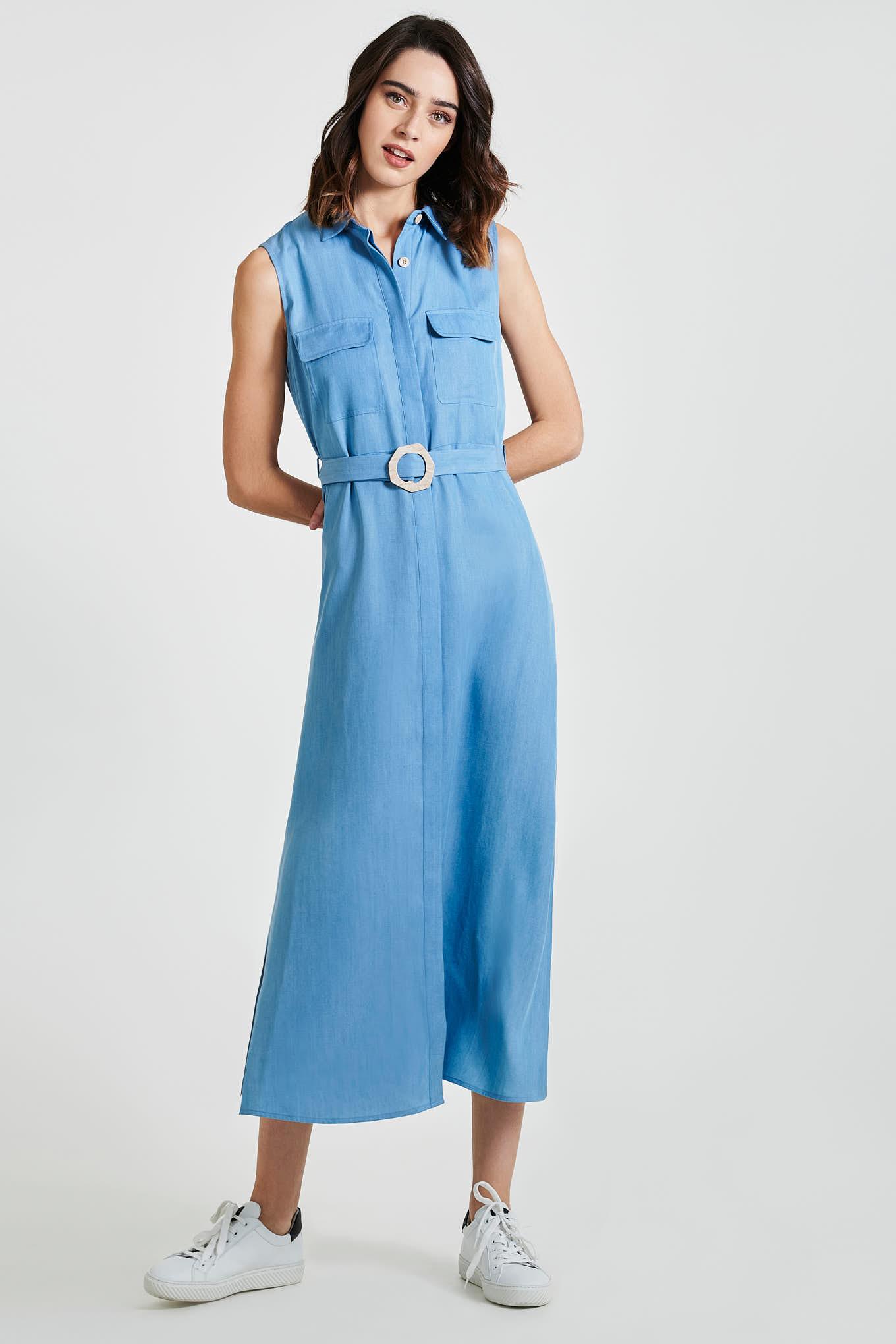 Vestido Azul Claro Fantasy Mulher