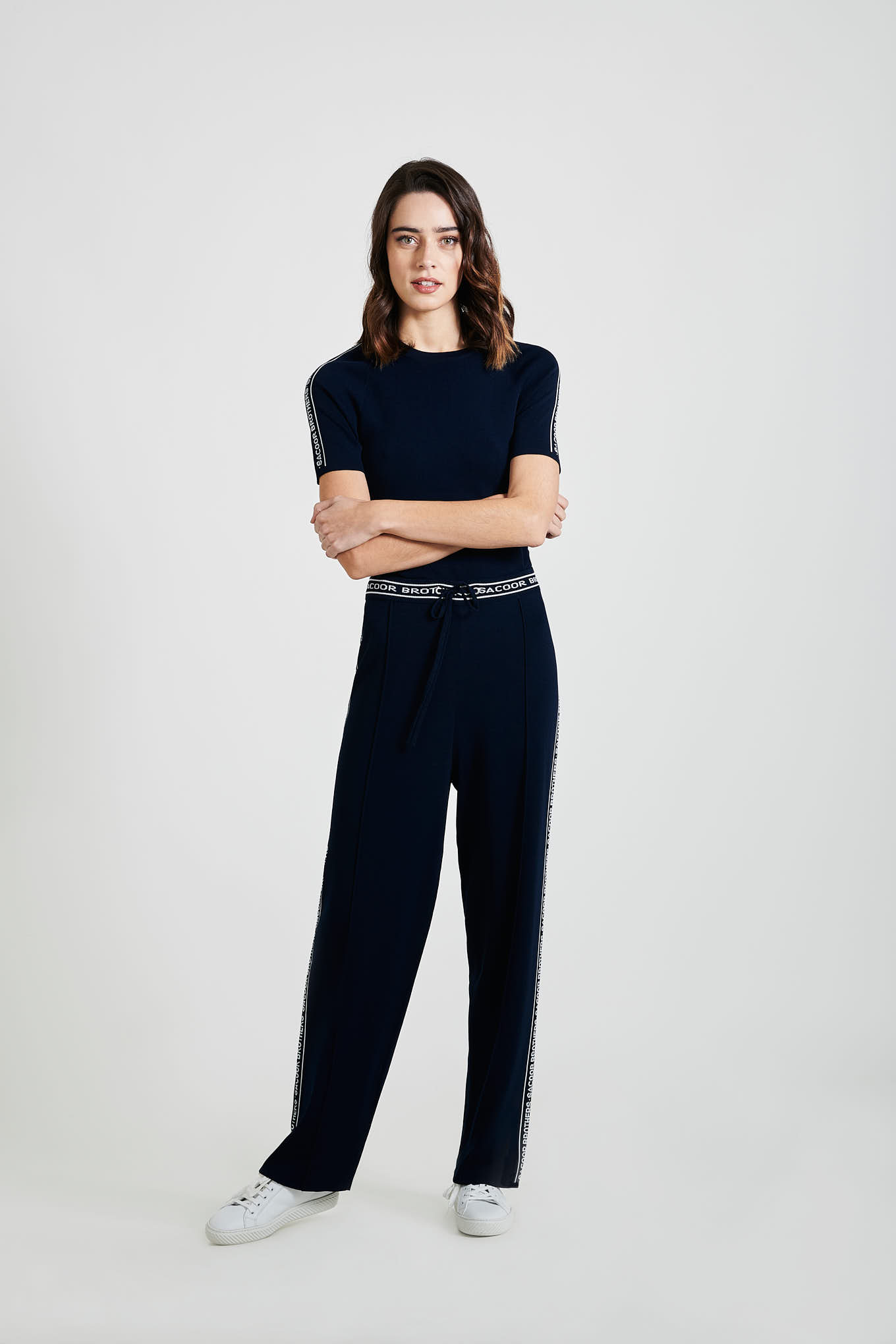 Sportswear Trousers Dark Blue Casual Woman