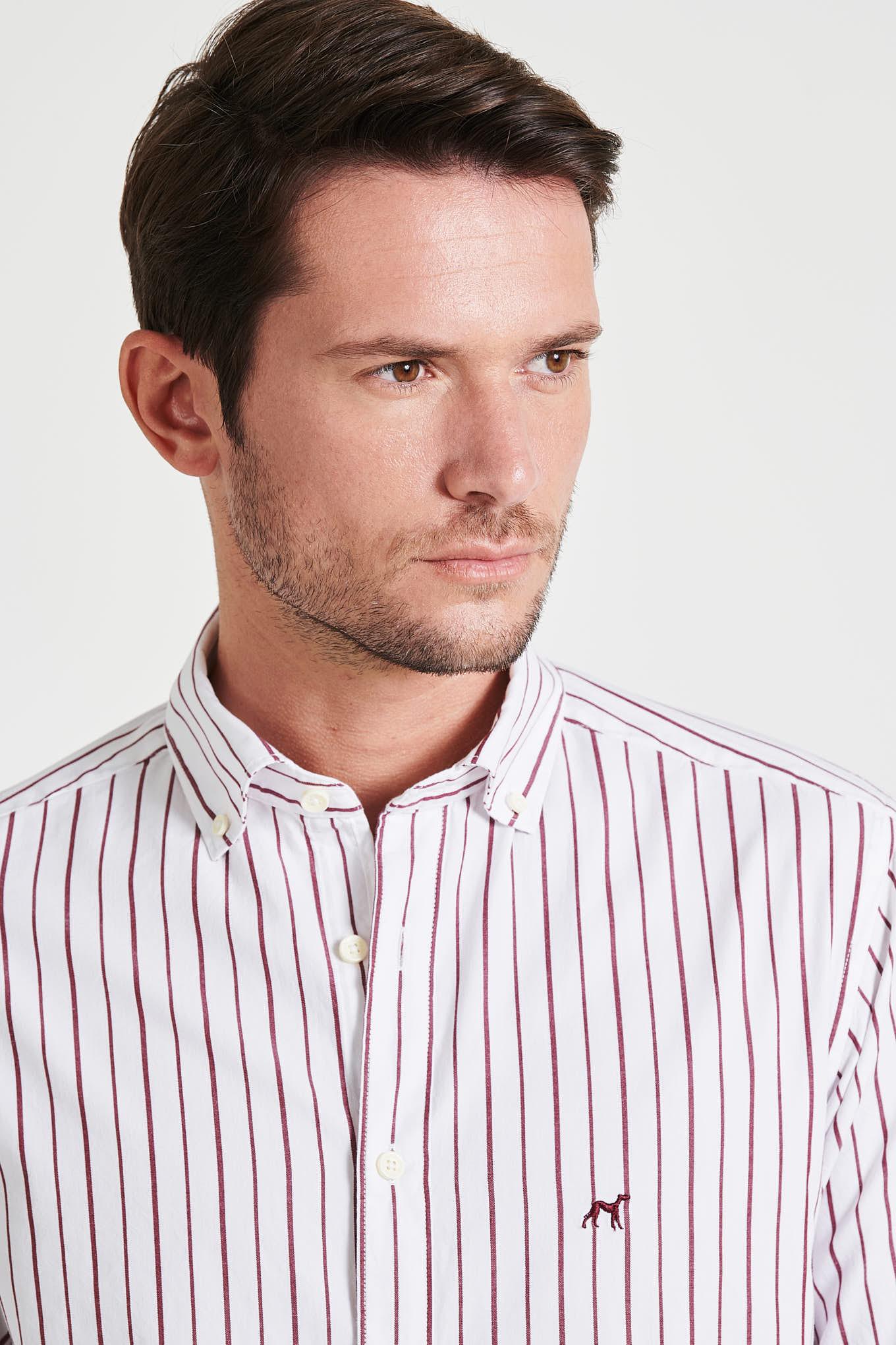 Camisa Vermelho Escuro Sport Homem