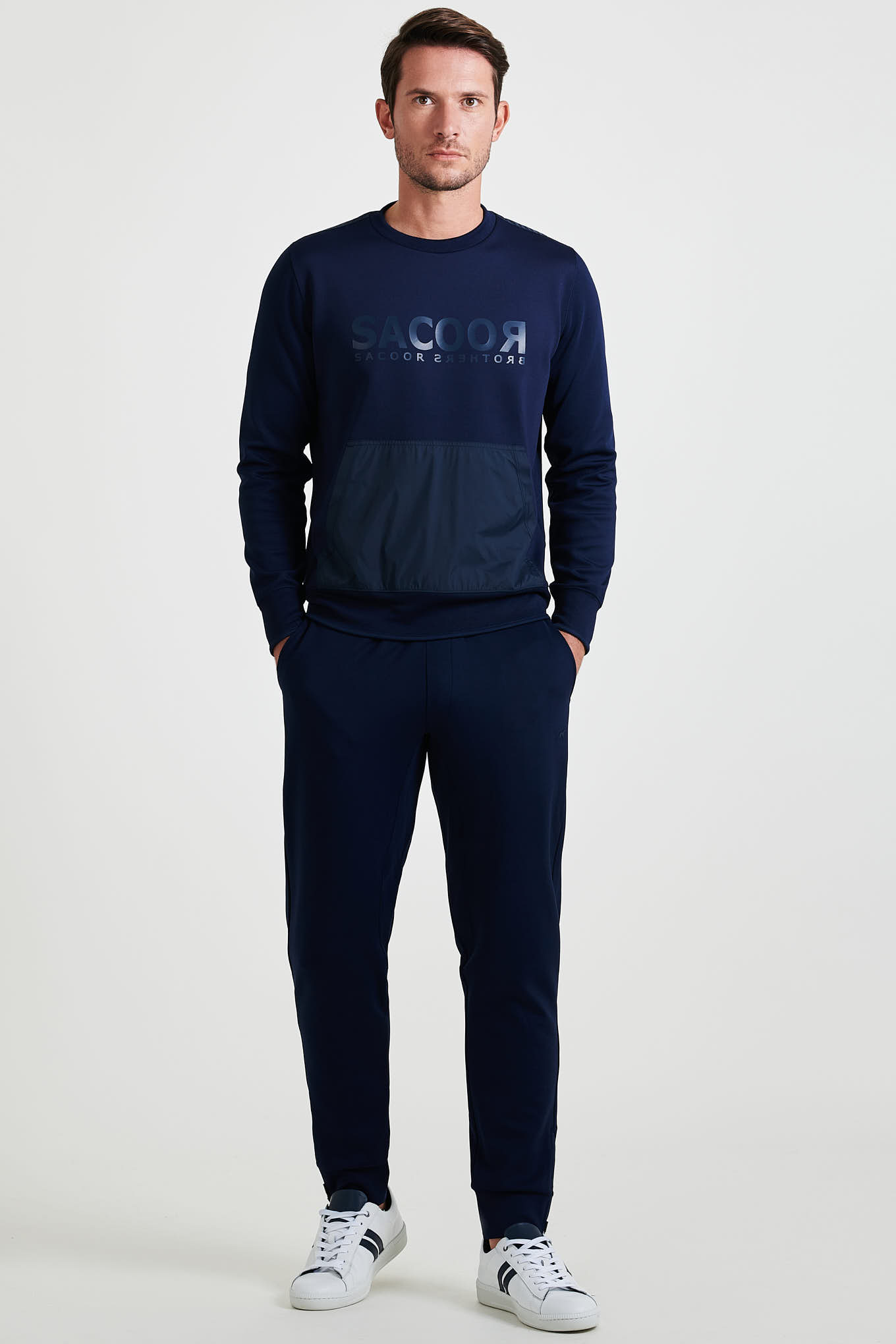 Sweatshirt Dark Blue Sport Man