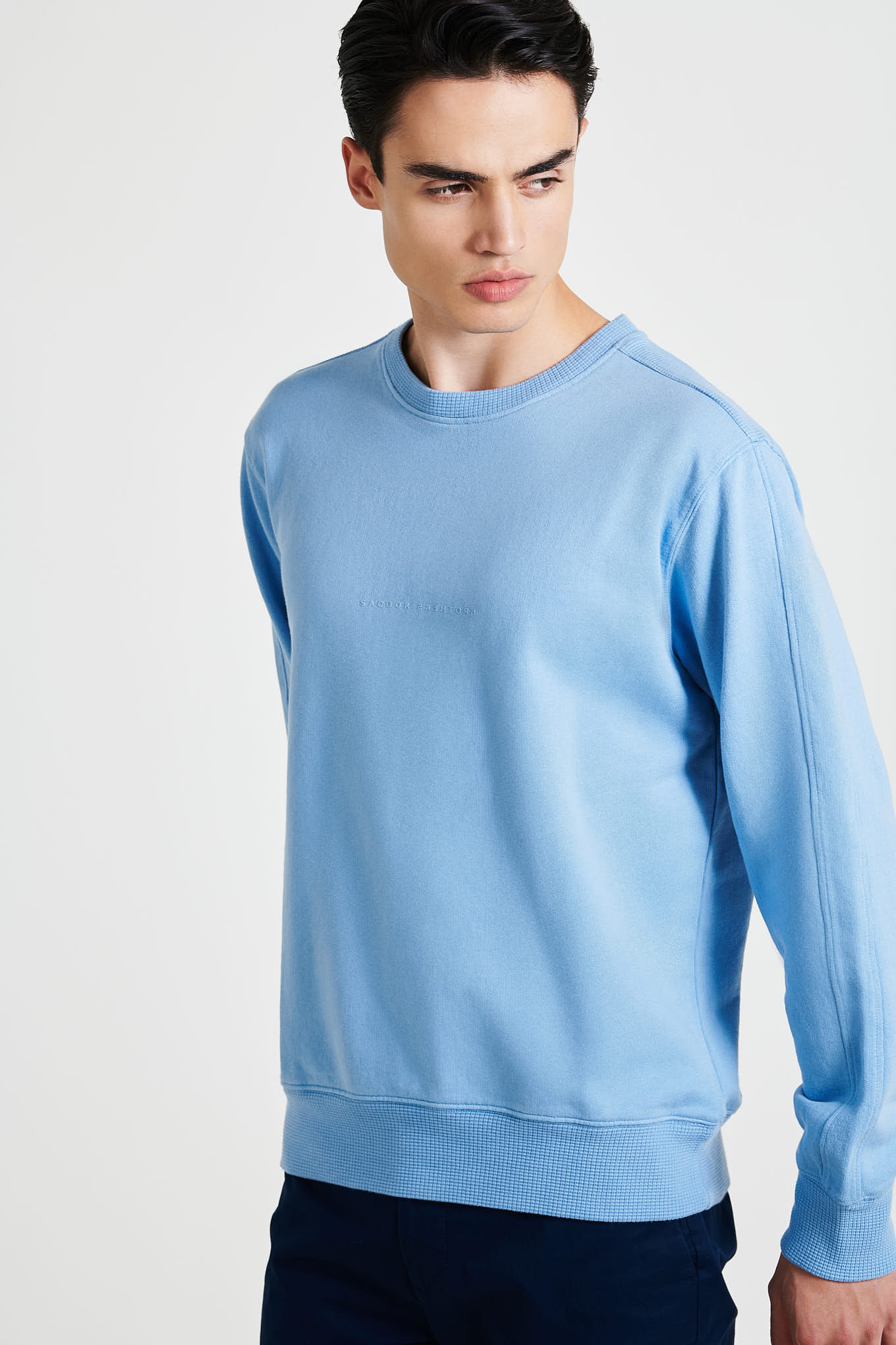 Sweatshirt Medium Blue Sport Man