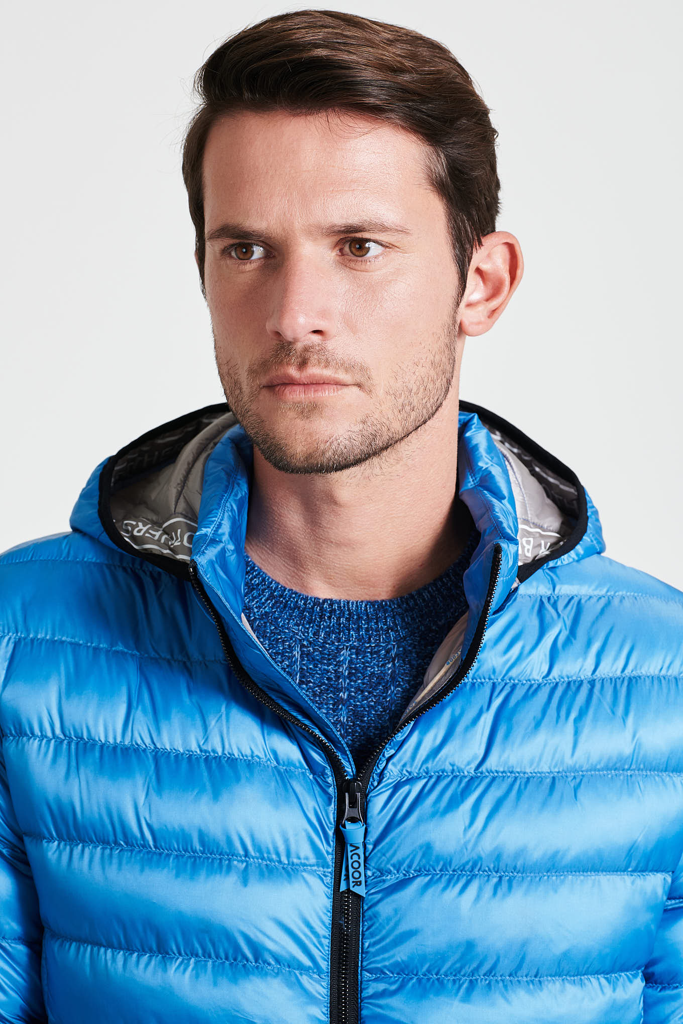 Jacket Medium Blue Casual Man