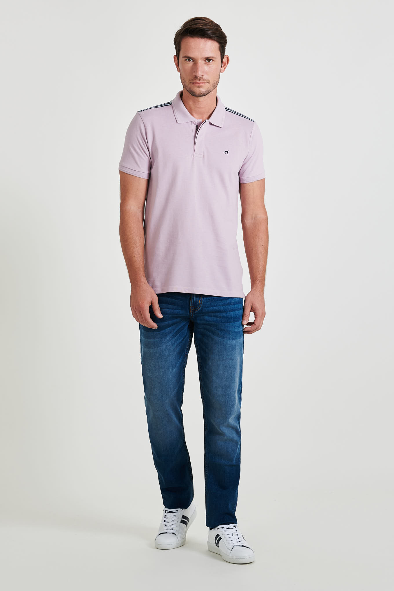 Polo Piquet Lilac Casual Man