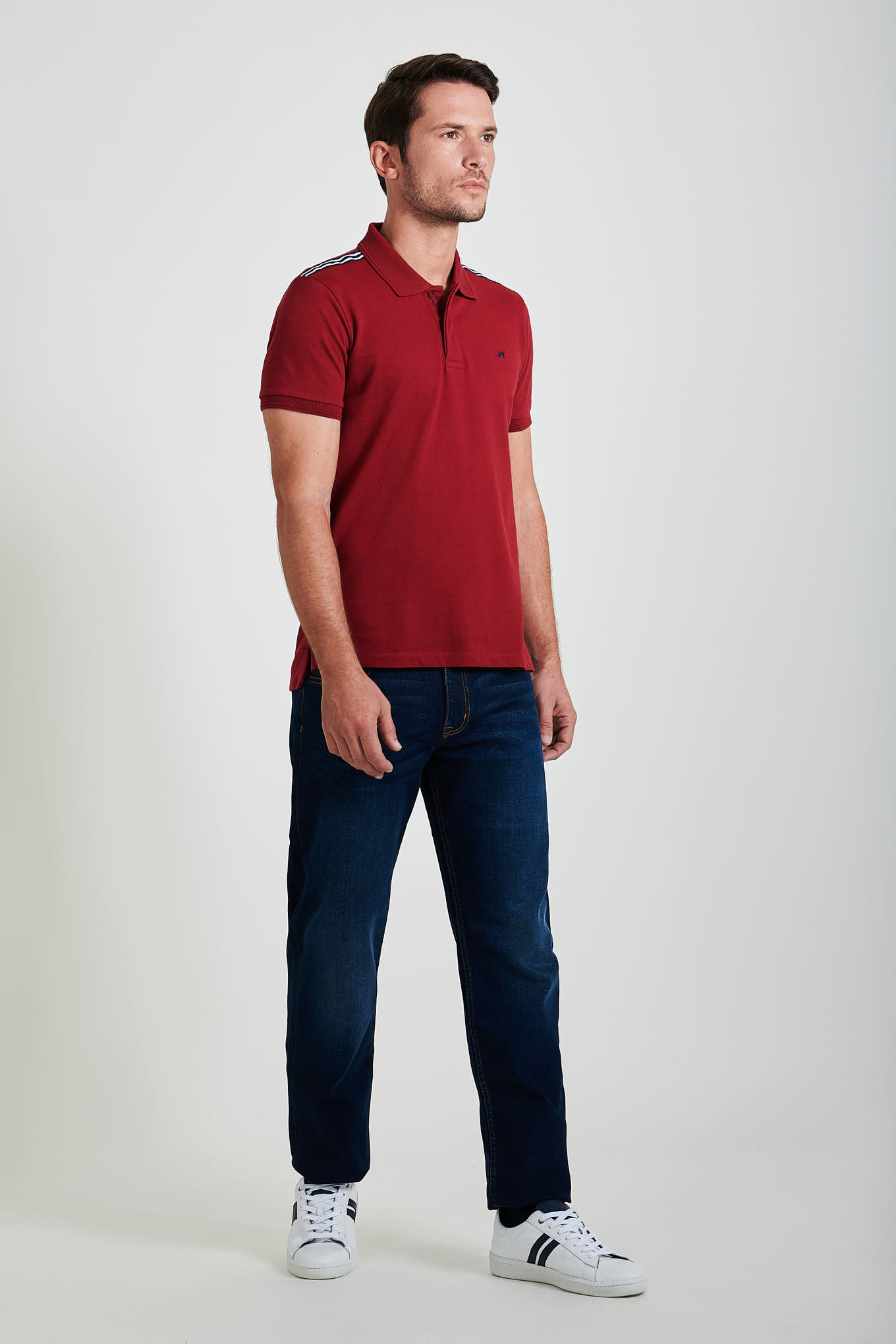 Polo Piquet Plum Casual Man