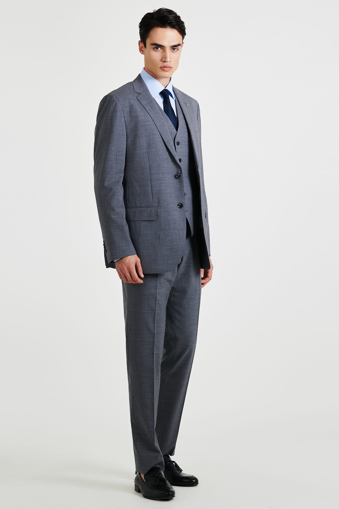 Suit Medium Grey Classic Man