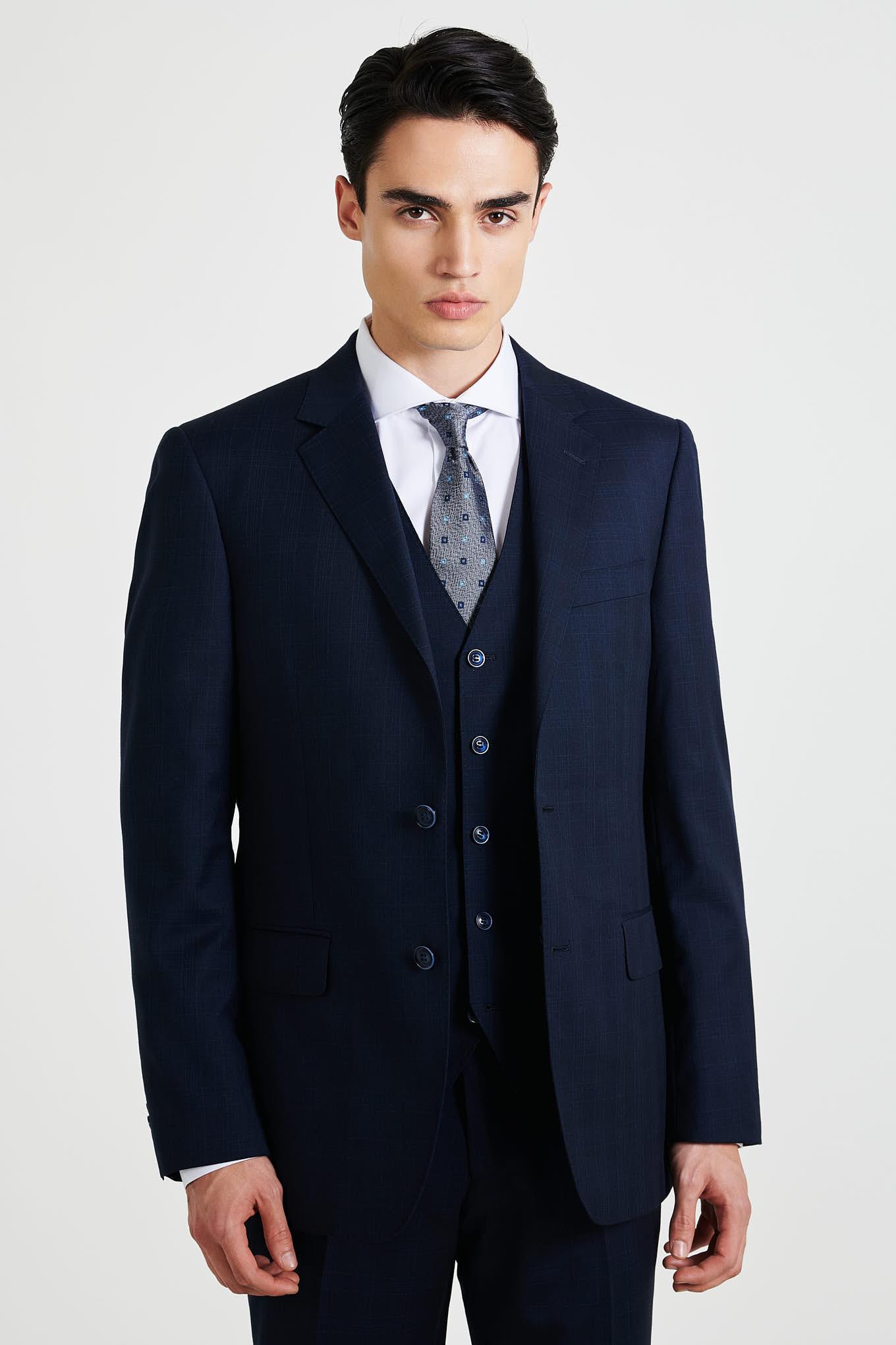 Fato com Colete Azul Escuro Classic Homem