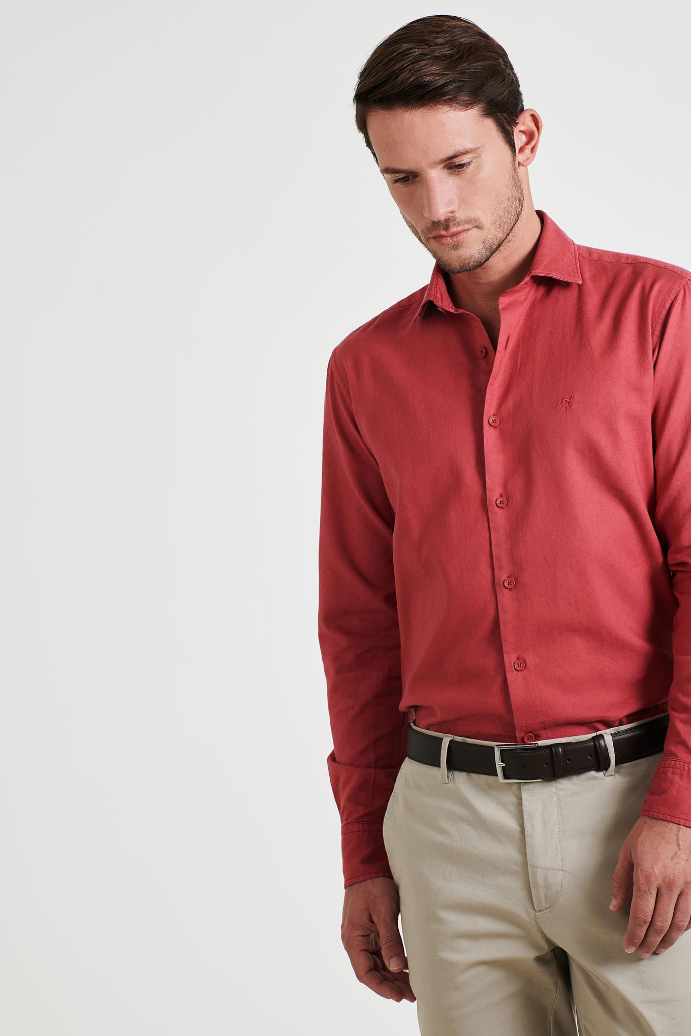 Shirt Light Red Sport Man