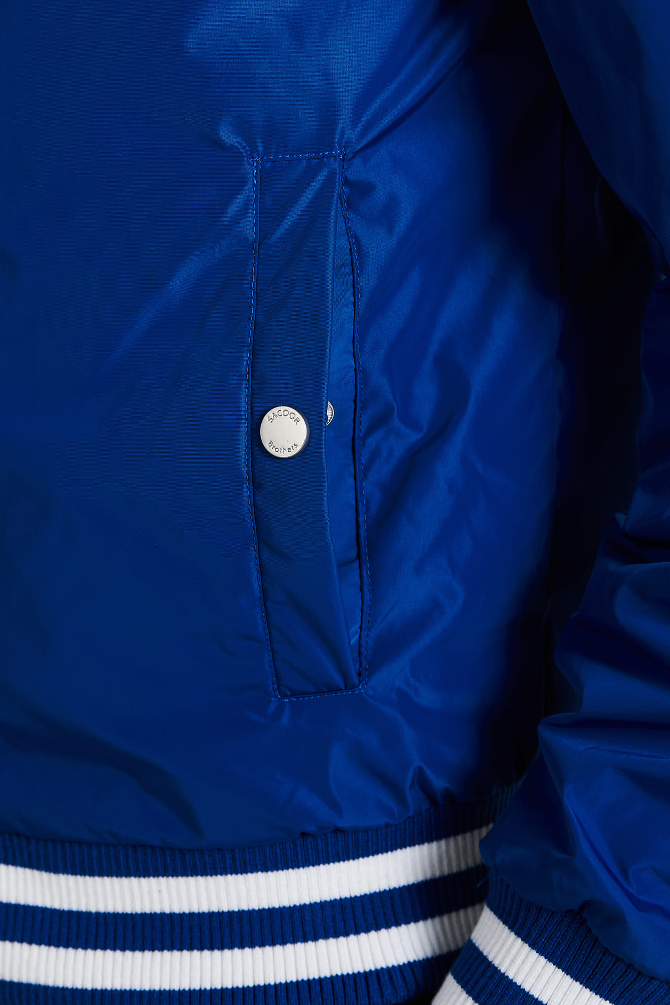 Blusão Azul Casual Homem